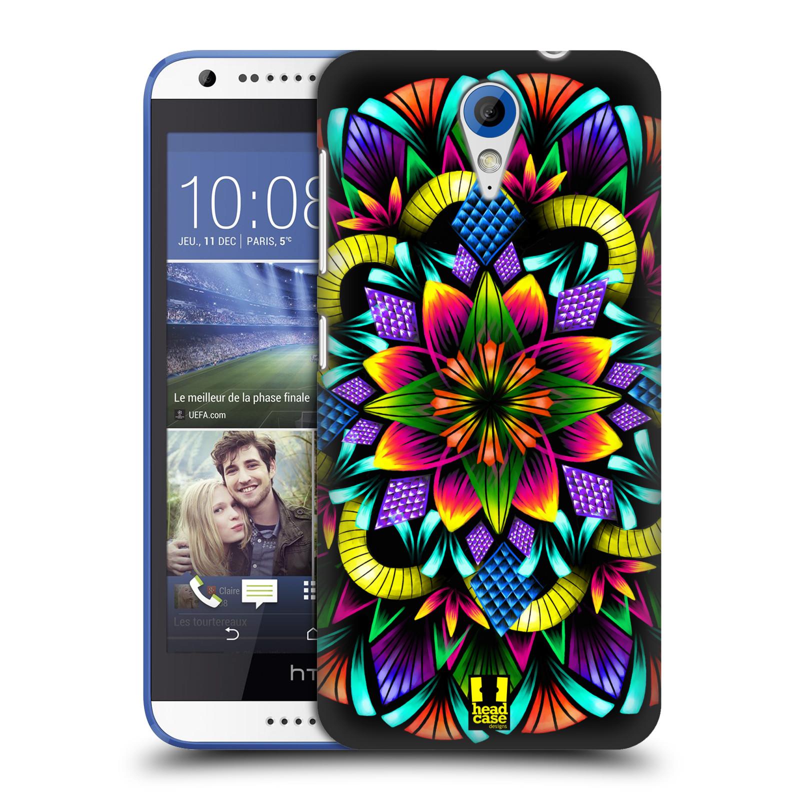 Plastové pouzdro na mobil HTC Desire 620 HEAD CASE Květina mandala