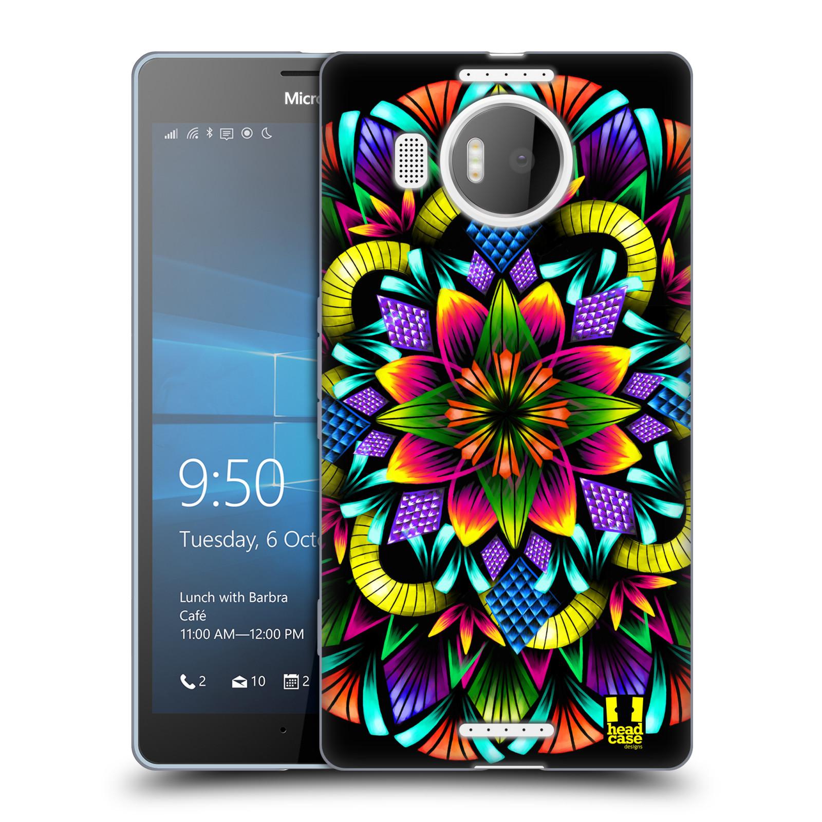 Silikonové pouzdro na mobil Microsoft Lumia 950 XL HEAD CASE Květina mandala