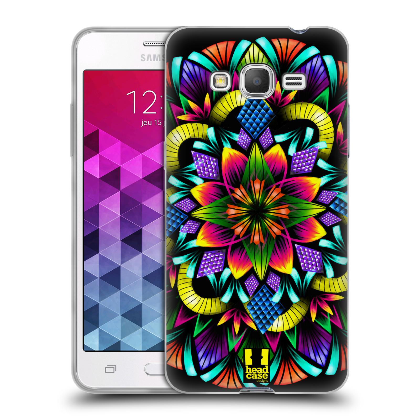 Silikonové pouzdro na mobil Samsung Galaxy Grand Prime HEAD CASE Květina mandala