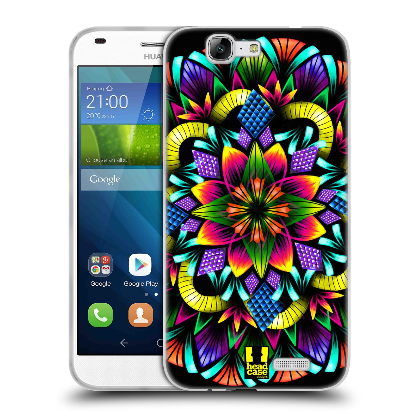 Silikonové pouzdro na mobil Huawei Ascend G7 HEAD CASE Květina mandala