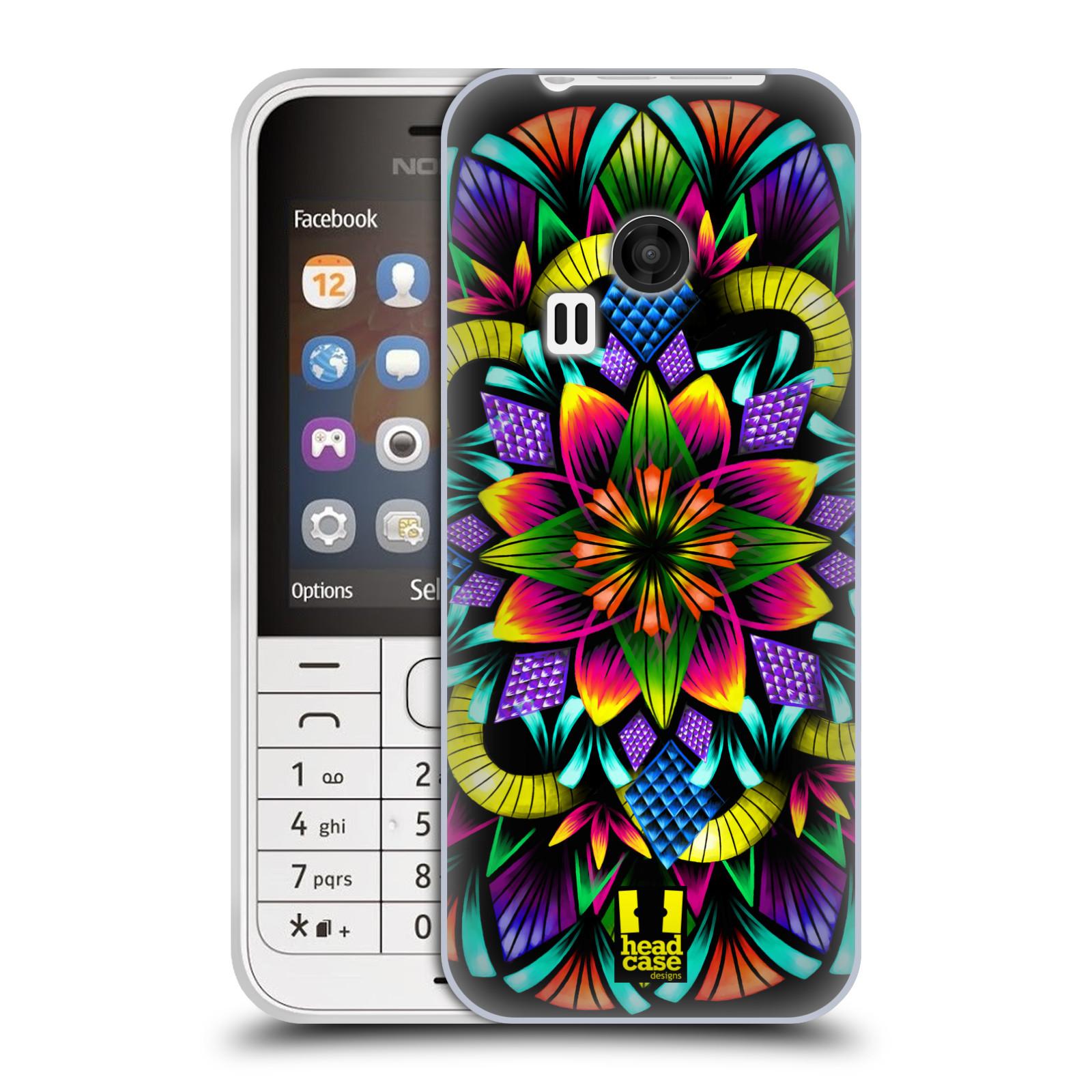 Silikonové pouzdro na mobil Nokia 220 HEAD CASE Květina mandala