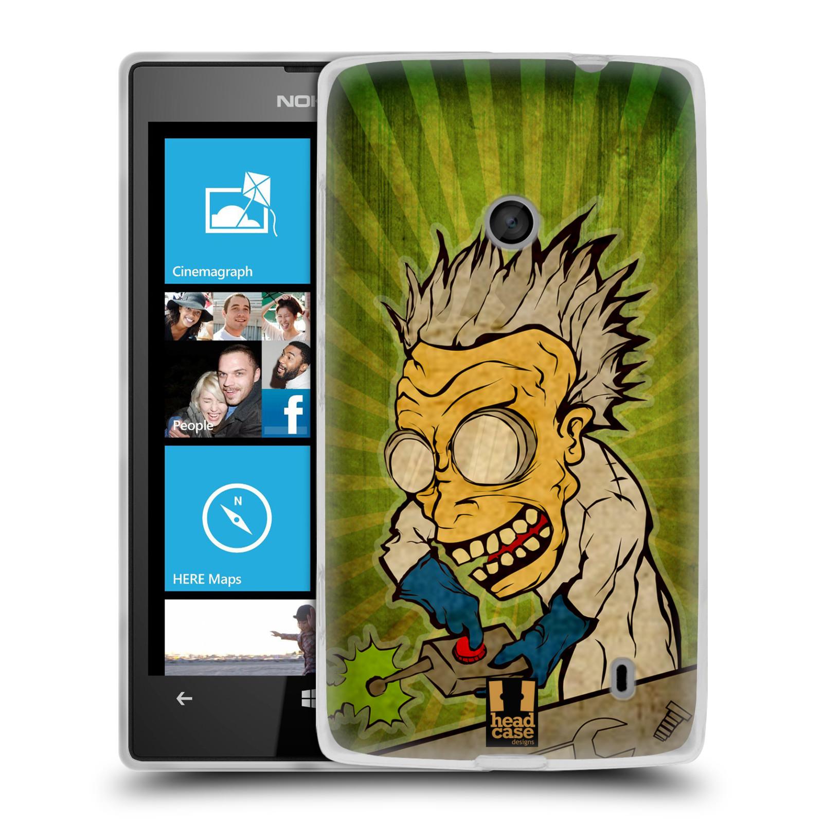 Silikonové pouzdro na mobil Nokia Lumia 520 HEAD CASE INFUSE (Silikonový Kryt či obal na mobilní telefon Nokia Lumia 520)