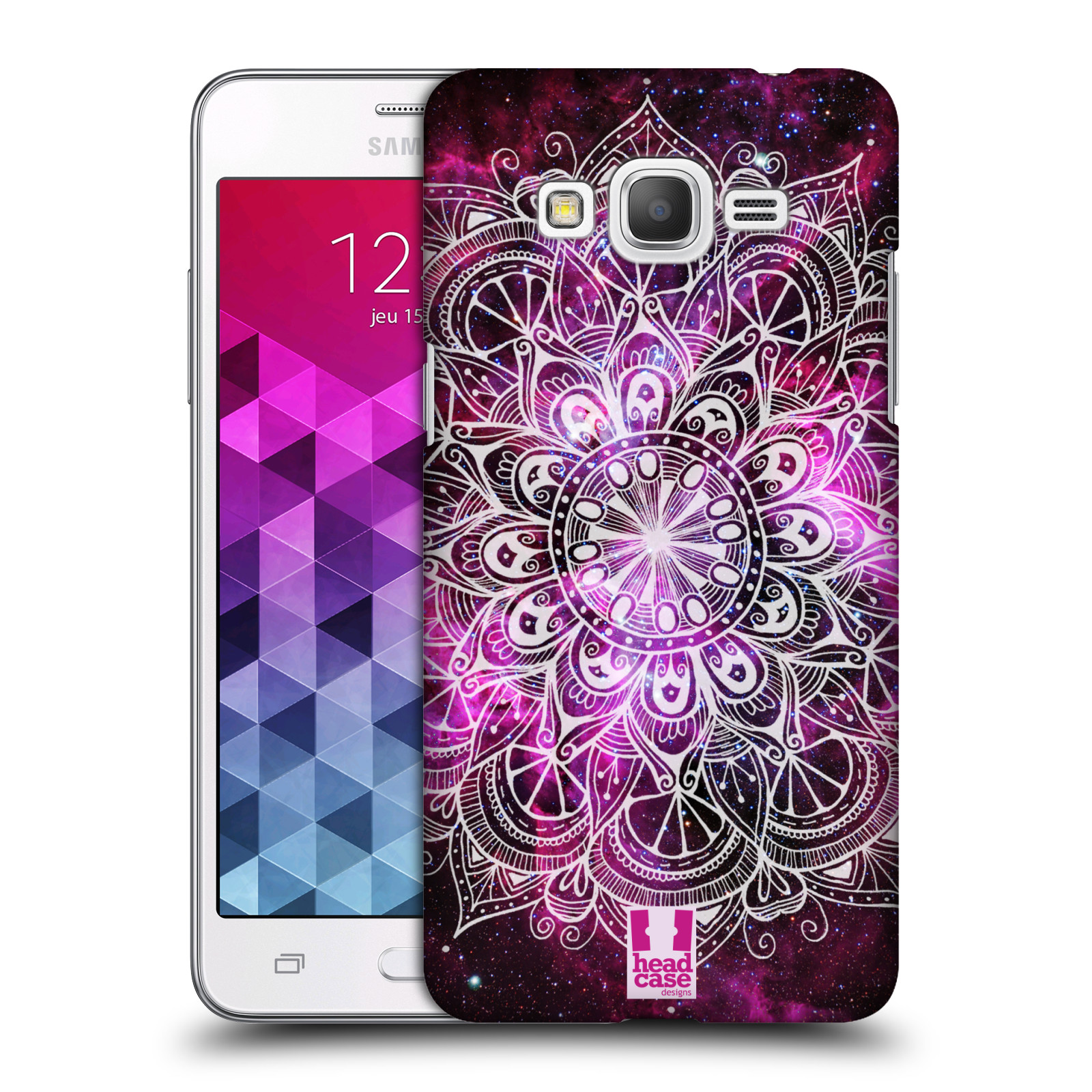 Plastové pouzdro na mobil Samsung Galaxy Grand Prime VE HEAD CASE Mandala Doodle Nebula