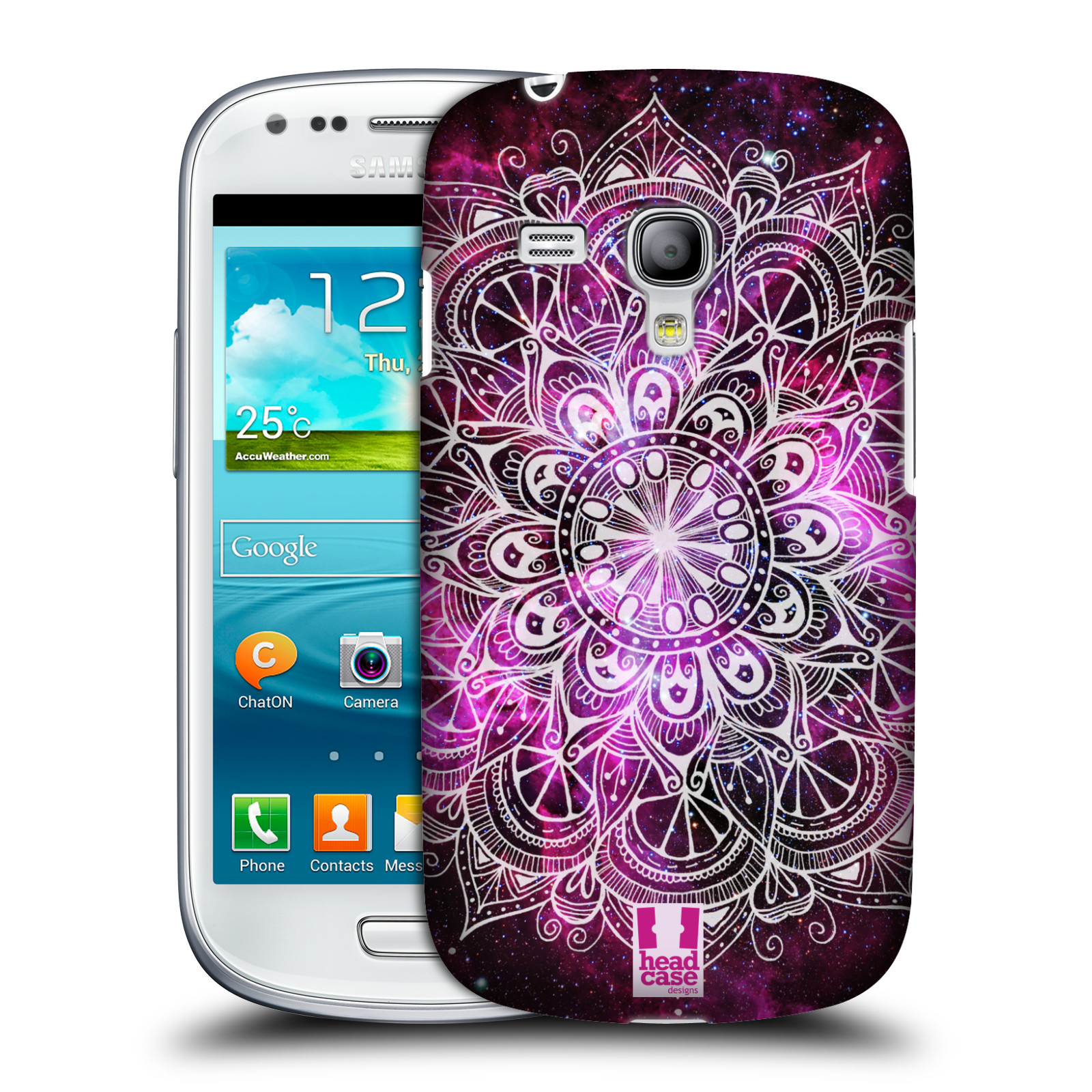 Plastové pouzdro na mobil Samsung Galaxy S III Mini HEAD CASE Mandala Doodle Nebula (Kryt či obal na mobilní telefon Samsung Galaxy S3 Mini VE GT-i8200)