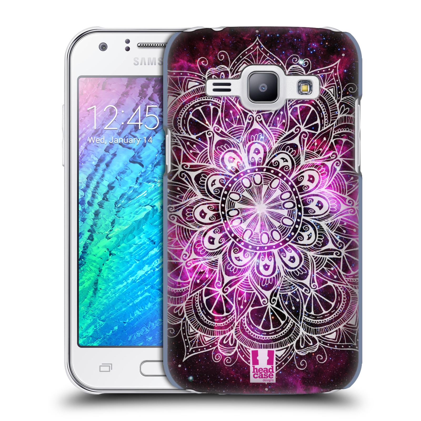 Plastové pouzdro na mobil Samsung Galaxy J1 HEAD CASE Mandala Doodle Nebula (Kryt či obal na mobilní telefon Samsung Galaxy J1 a J1 Duos )