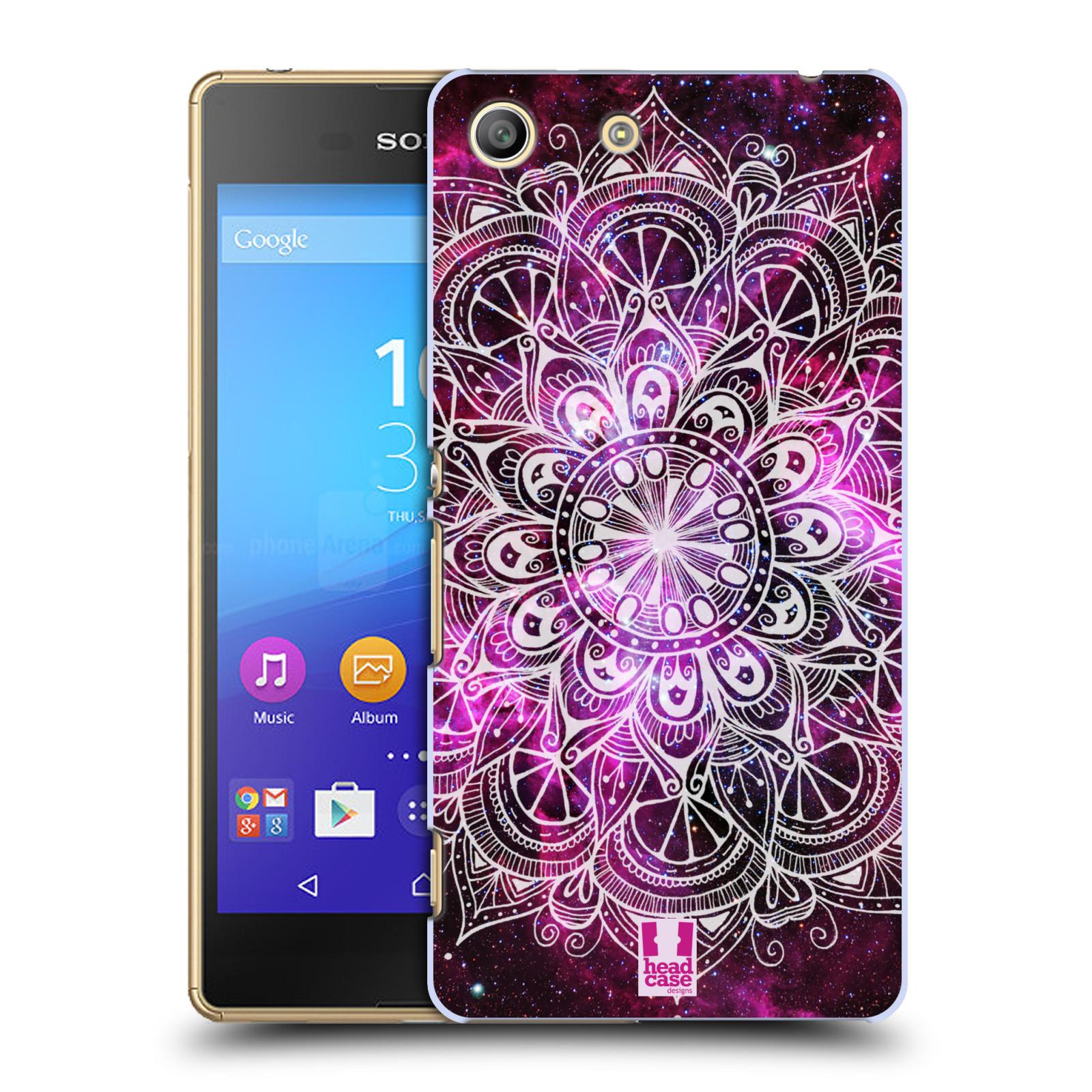 Plastové pouzdro na mobil Sony Xperia M5 HEAD CASE Mandala Doodle Nebula (Kryt či obal na mobilní telefon Sony Xperia M5 Aqua)