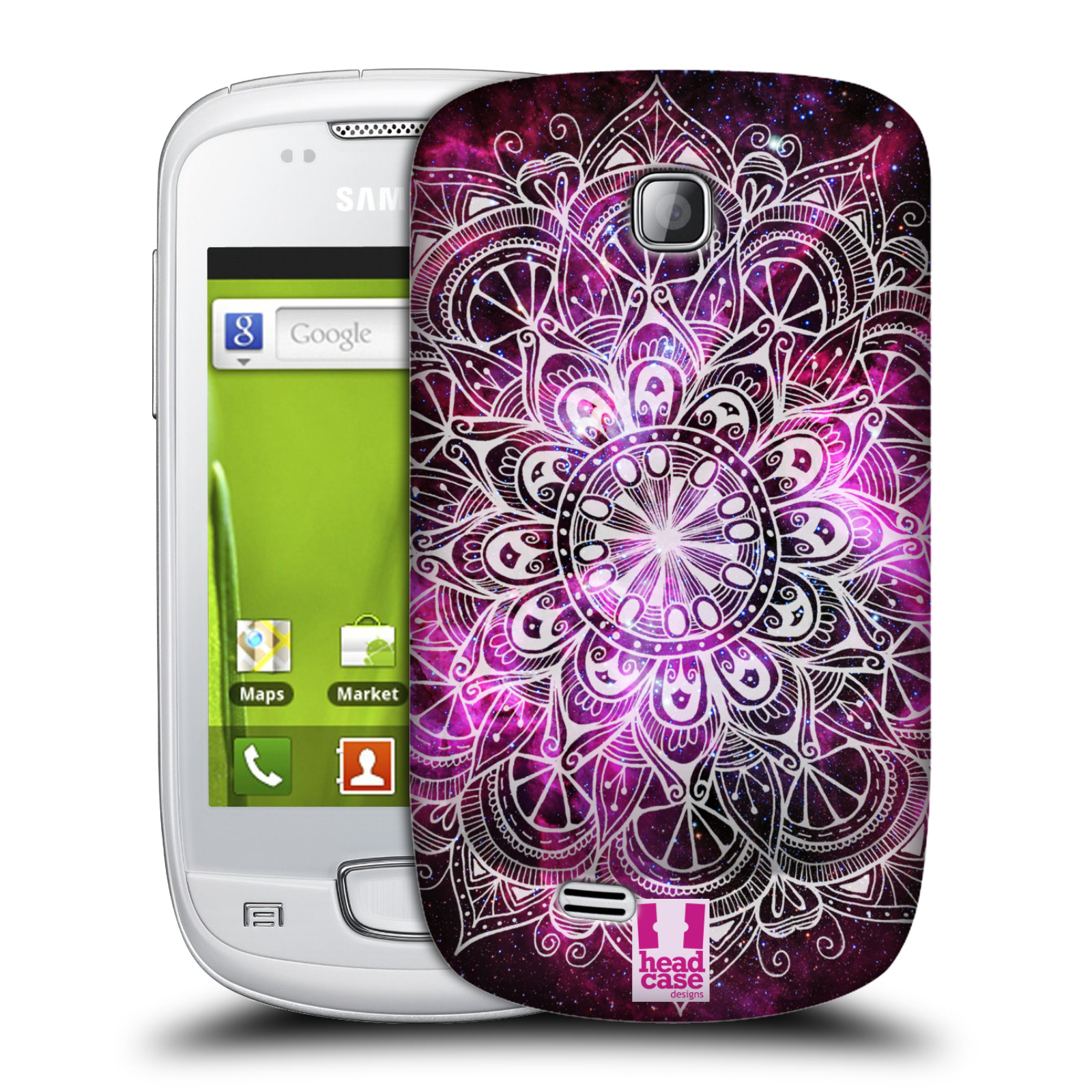 Plastové pouzdro na mobil Samsung Galaxy Mini HEAD CASE Mandala Doodle Nebula (Kryt či obal na mobilní telefon Samsung Galaxy Mini GT-S5570 / GT-S5570i)
