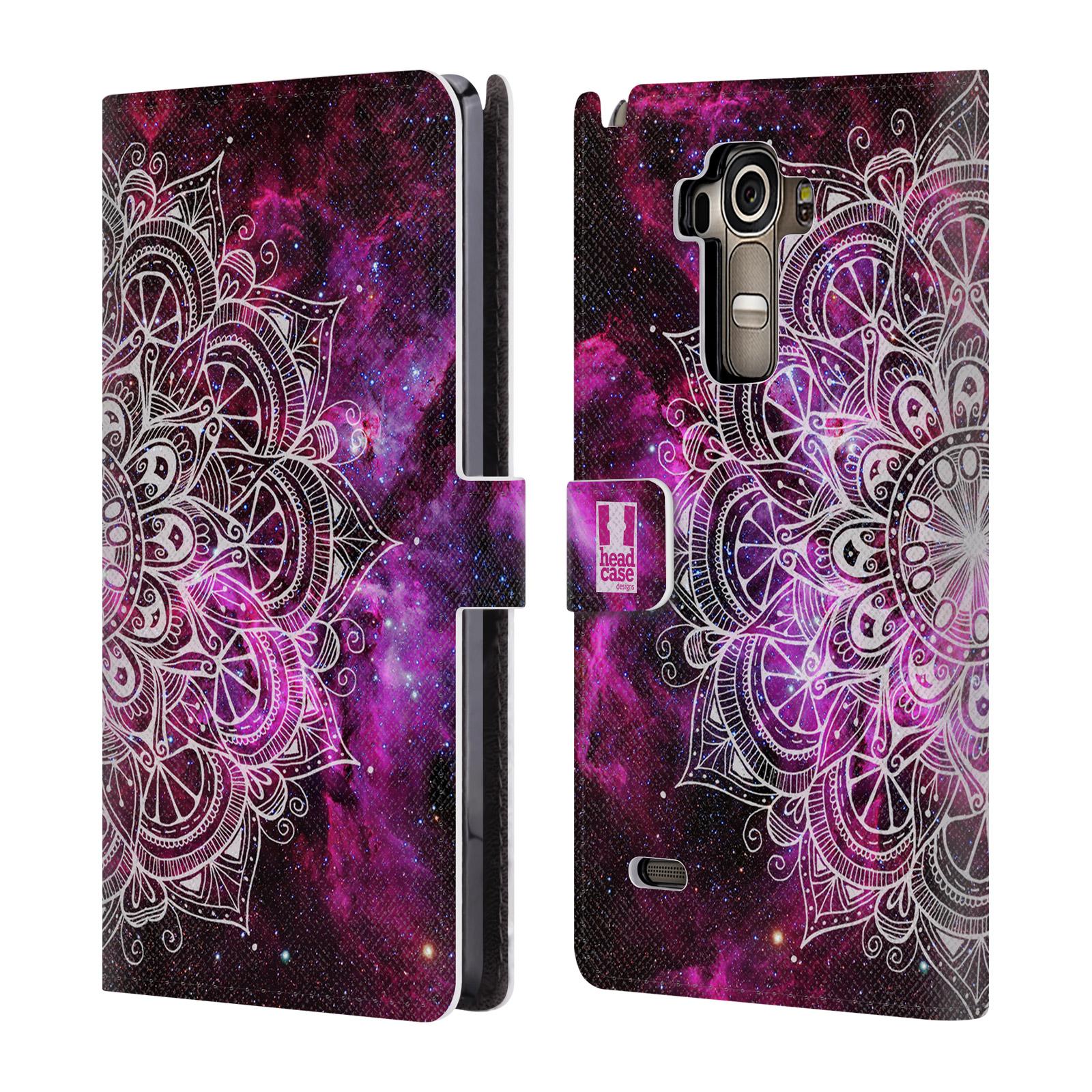 Flipové pouzdro na mobil LG G4 Stylus HEAD CASE Mandala Doodle Nebula (Flipový vyklápěcí kryt či obal z umělé kůže na mobilní telefon LG G4 Stylus H635)