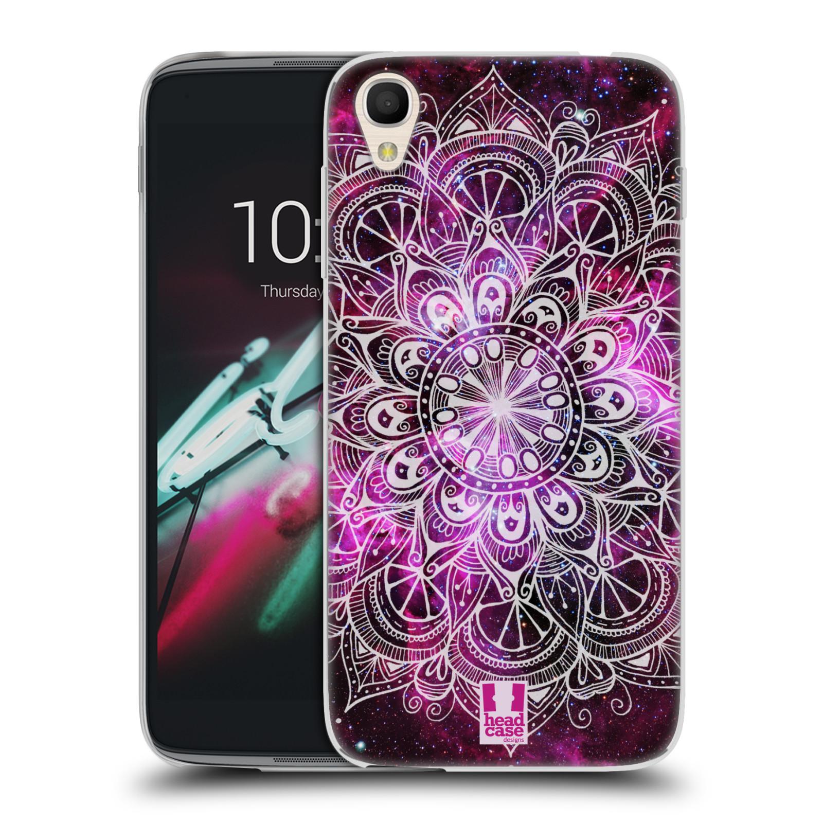 """Silikonové pouzdro na mobil Alcatel One Touch 6039Y Idol 3 HEAD CASE Mandala Doodle Nebula (Silikonový kryt či obal na mobilní telefon Alcatel One Touch Idol 3 OT-6039Y s 4,7"""" displejem)"""