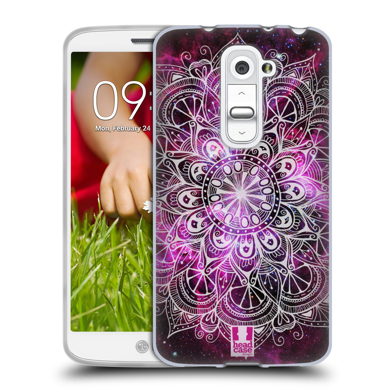 Silikonové pouzdro na mobil LG G2 Mini HEAD CASE Mandala Doodle Nebula (Silikonový kryt či obal na mobilní telefon LG G2 Mini D620)
