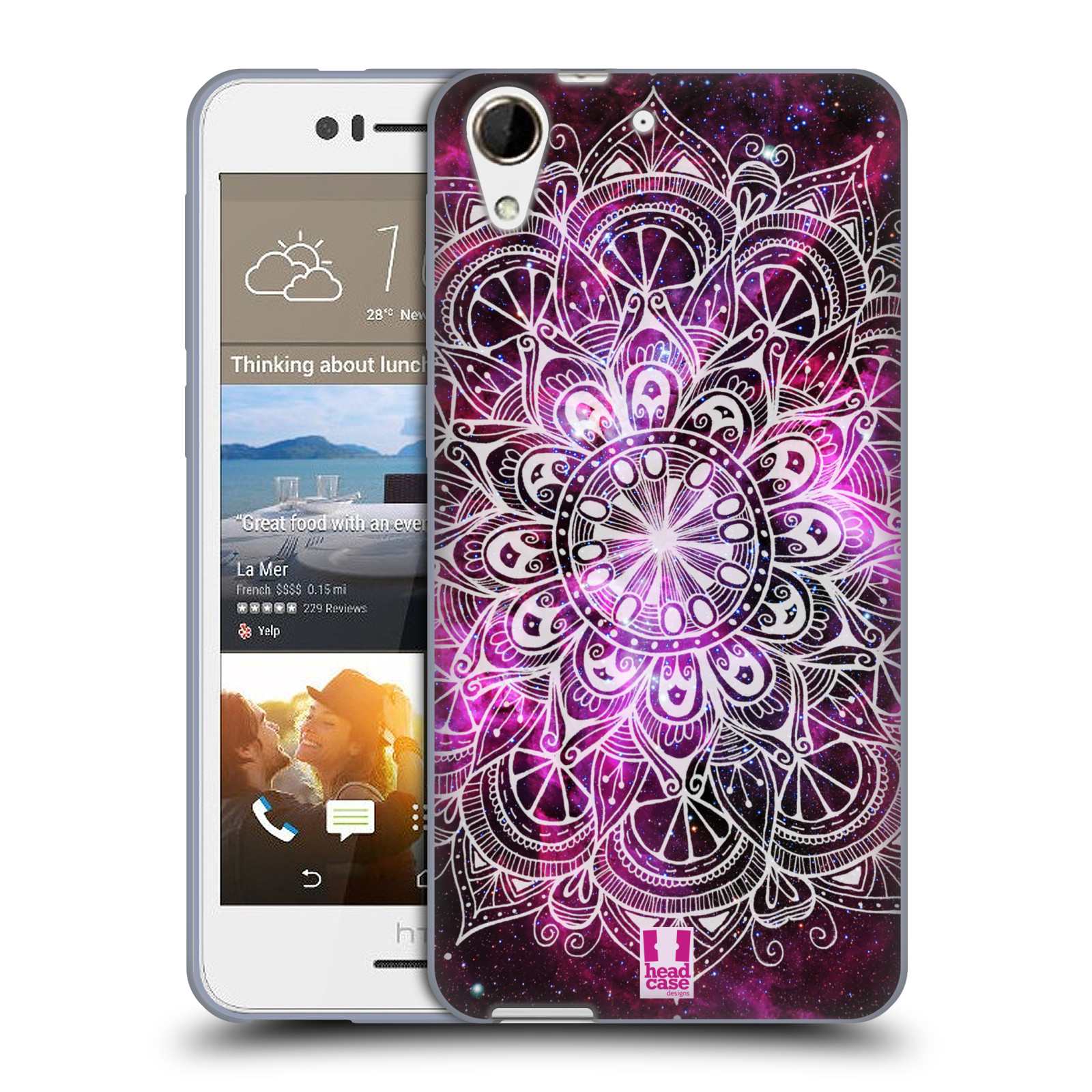 Silikonové pouzdro na mobil HTC Desire 728G Dual SIM HEAD CASE Mandala Doodle Nebula (Silikonový kryt či obal na mobilní telefon HTC Desire 728 G Dual SIM)