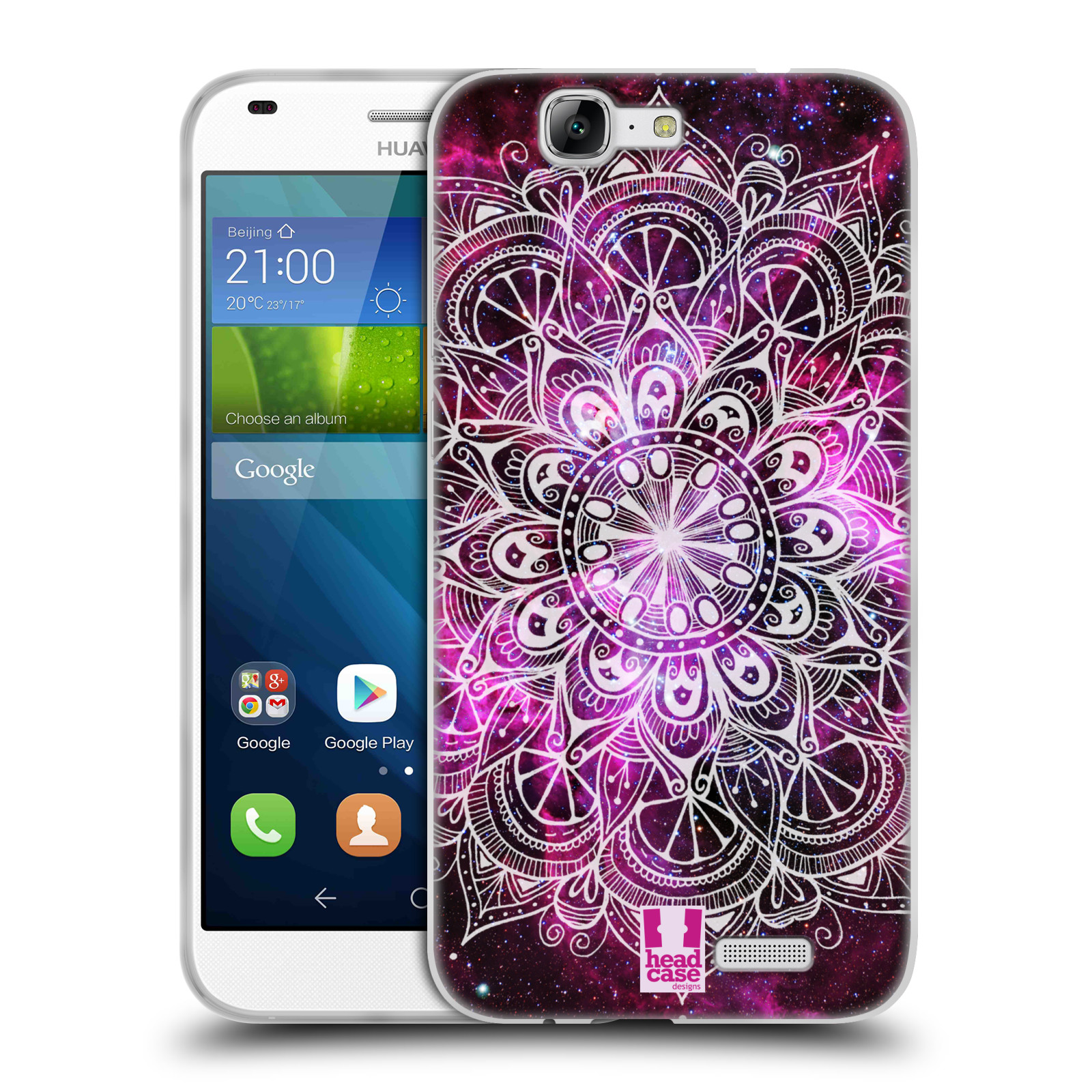 Silikonové pouzdro na mobil Huawei Ascend G7 HEAD CASE Mandala Doodle Nebula