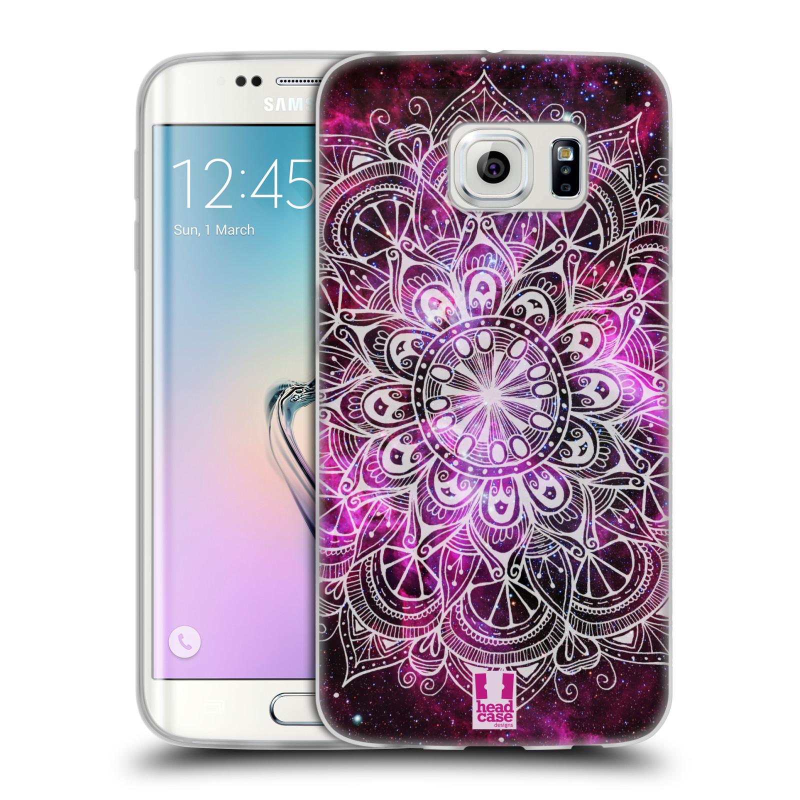 Silikonové pouzdro na mobil Samsung Galaxy S6 Edge HEAD CASE Mandala Doodle Nebula (Silikonový kryt či obal na mobilní telefon Samsung Galaxy S6 Edge SM-G925F)