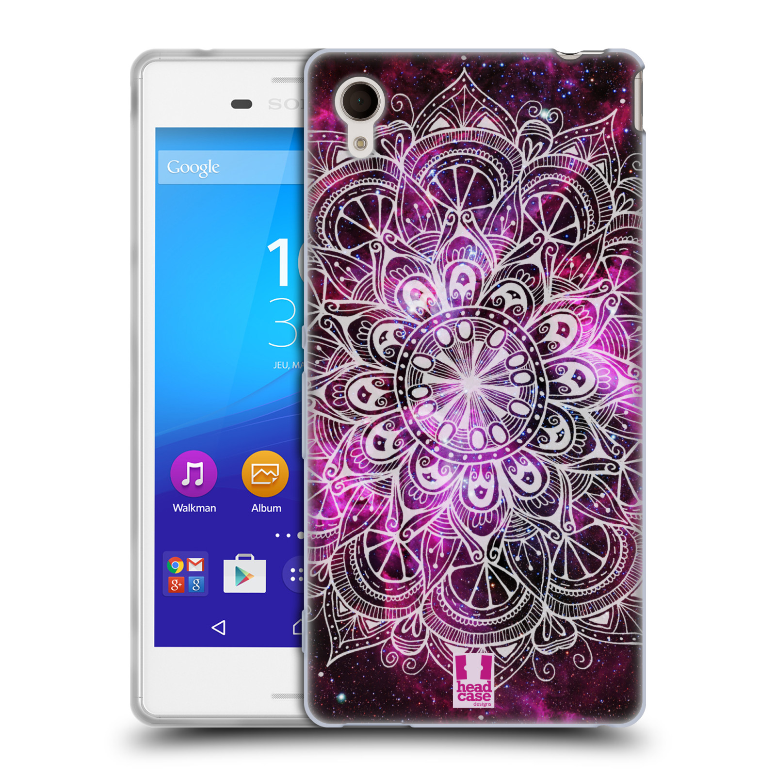 Silikonové pouzdro na mobil Sony Xperia M4 Aqua E2303 HEAD CASE Mandala Doodle Nebula (Silikonový kryt či obal na mobilní telefon Sony Xperia M4 Aqua a M4 Aqua Dual SIM)