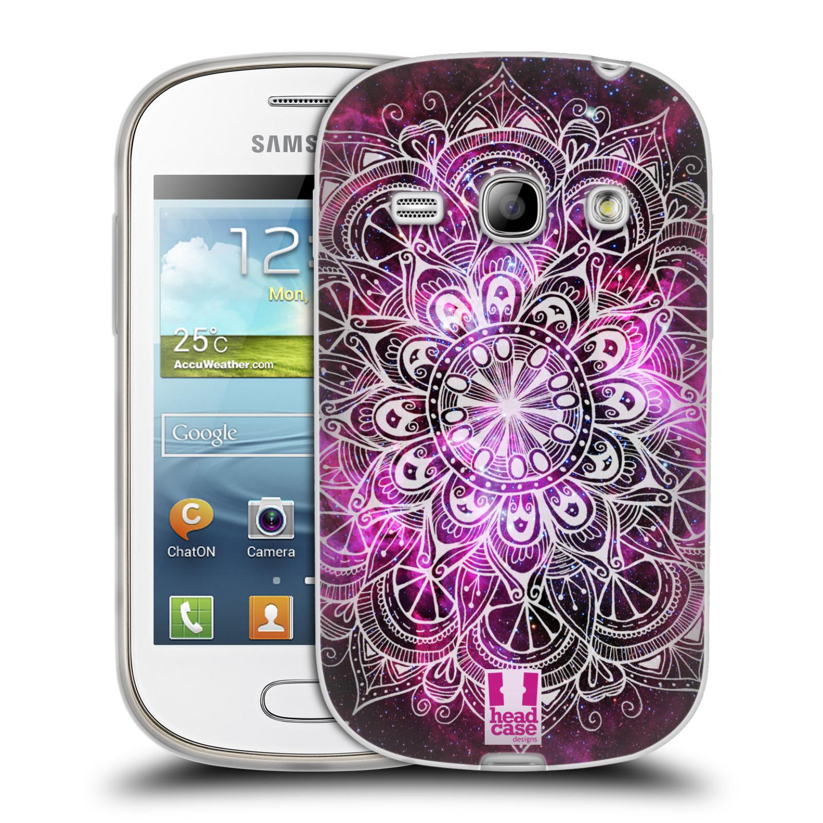 Silikonové pouzdro na mobil Samsung Galaxy Fame HEAD CASE Mandala Doodle Nebula (Silikonový kryt či obal na mobilní telefon Samsung Galaxy Fame GT-S6810)