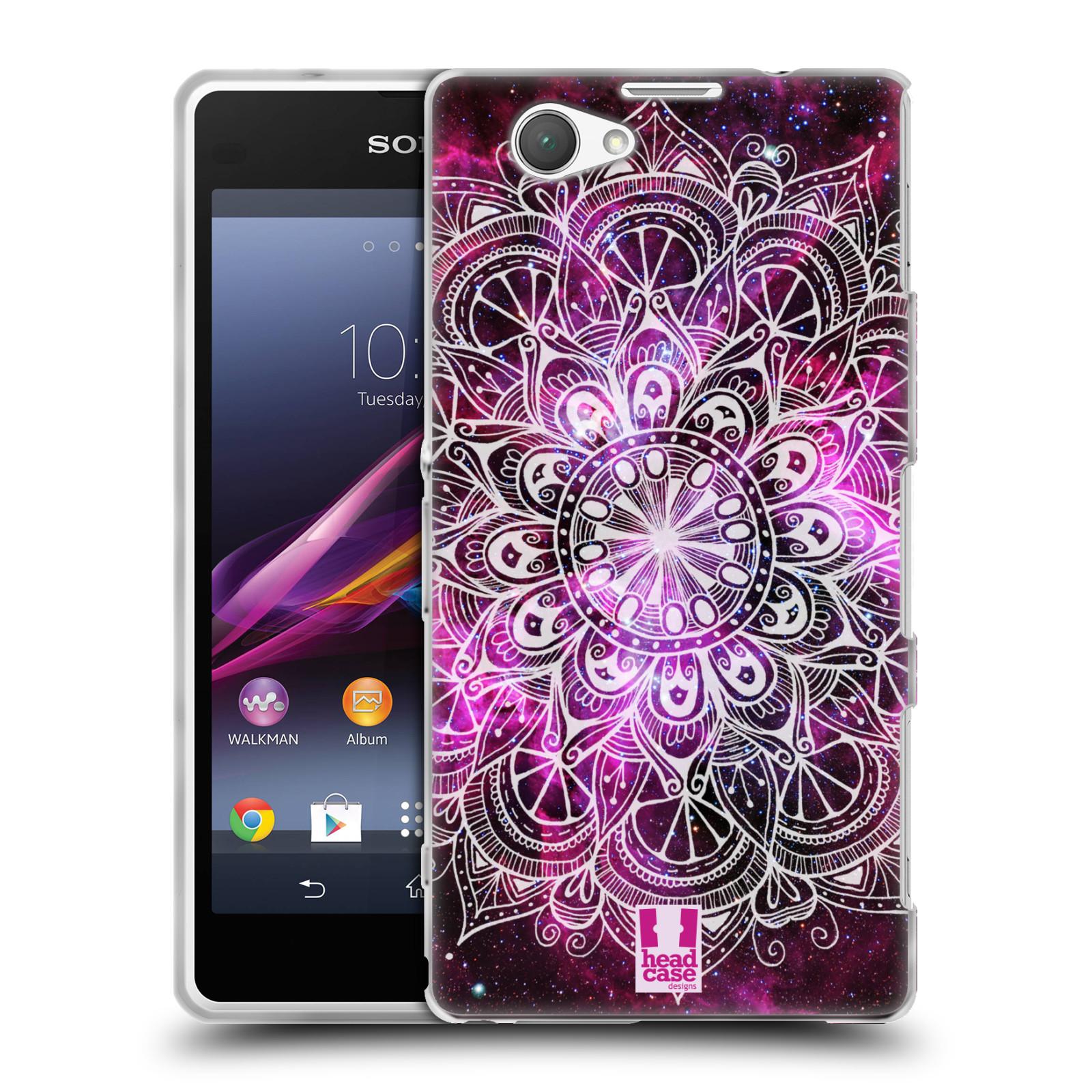 Silikonové pouzdro na mobil Sony Xperia Z1 Compact D5503 HEAD CASE Mandala Doodle Nebula (Silikonový kryt či obal na mobilní telefon Sony Xperia Z1 Compact)