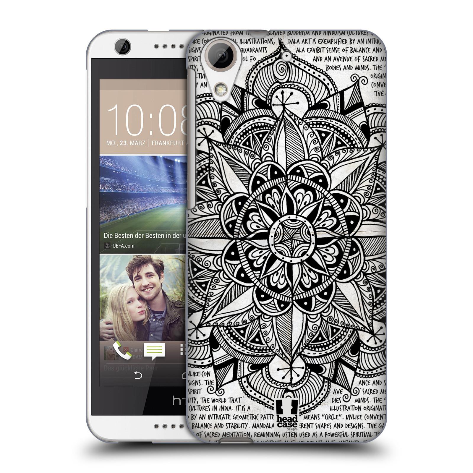 Plastové pouzdro na mobil HTC Desire 626 / 626G HEAD CASE Mandala Doodle Paper (Kryt či obal na mobilní telefon HTC Desire 626G Dual SIM a HTC Desire 626)