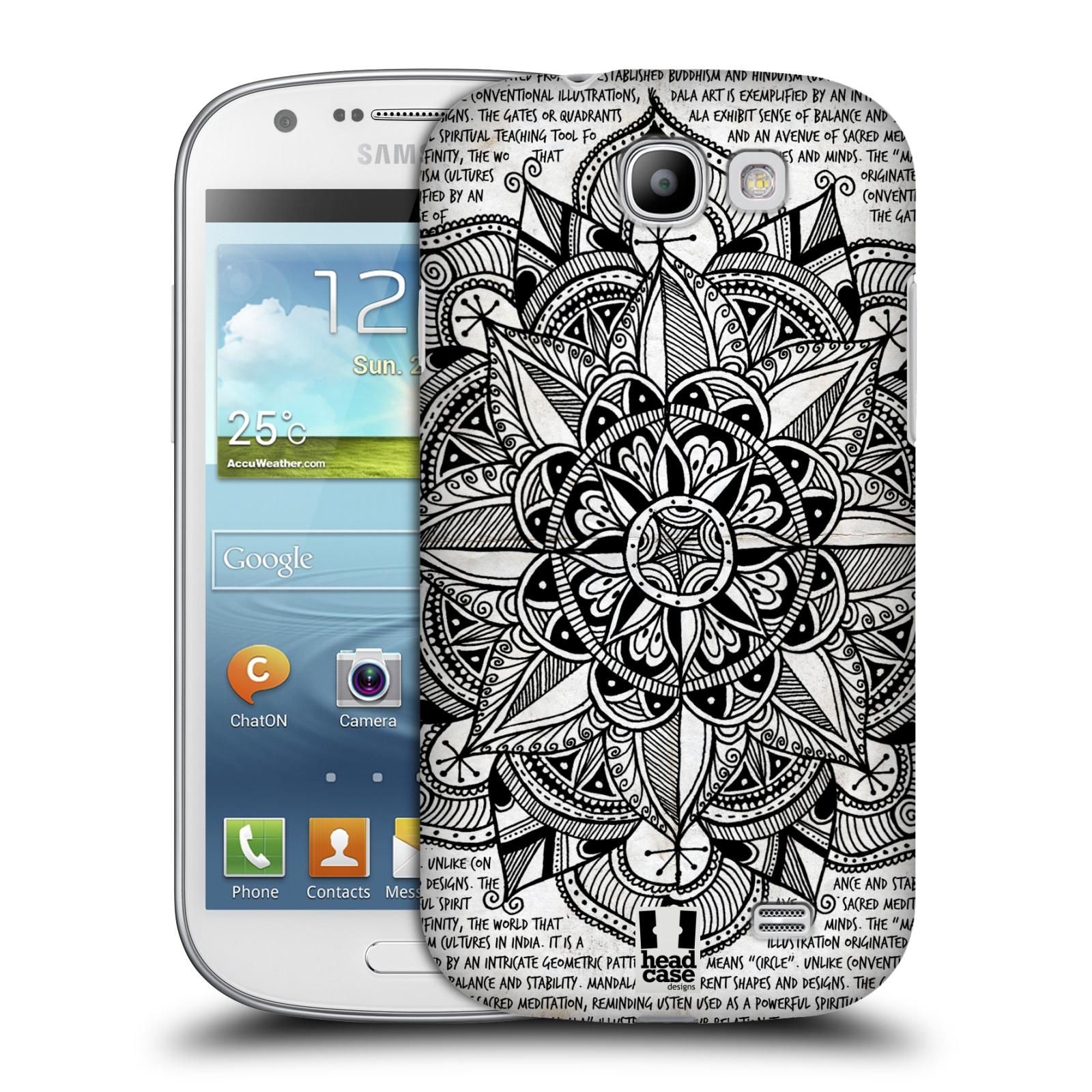 Plastové pouzdro na mobil Samsung Galaxy Express HEAD CASE Mandala Doodle Paper (Kryt či obal na mobilní telefon Samsung Galaxy Express GT-i8730)