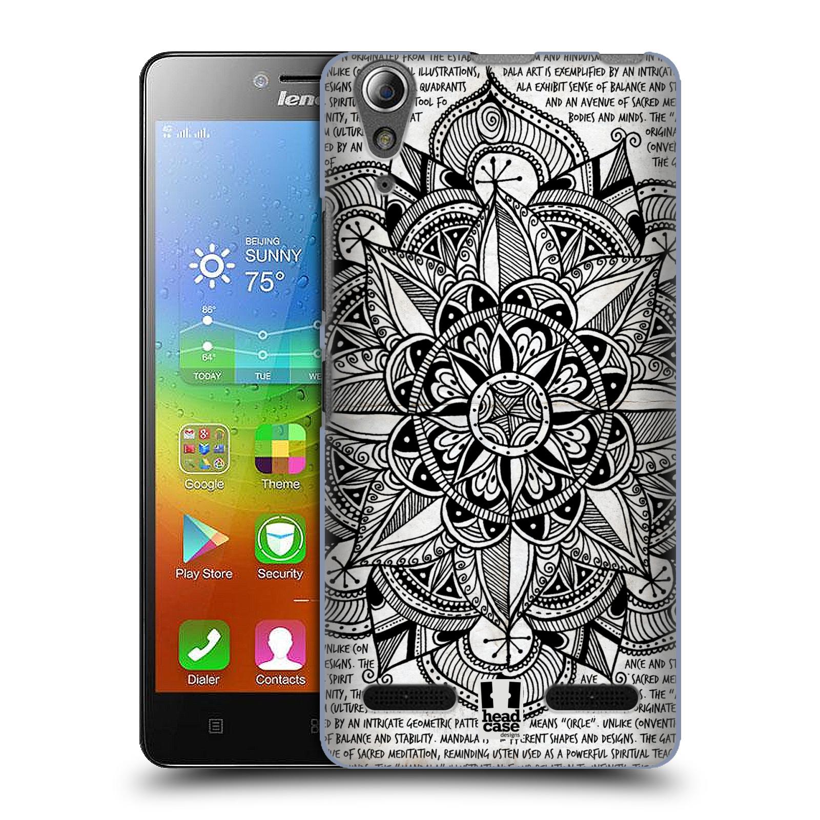 Plastové pouzdro na mobil Lenovo A6000 HEAD CASE Mandala Doodle Paper
