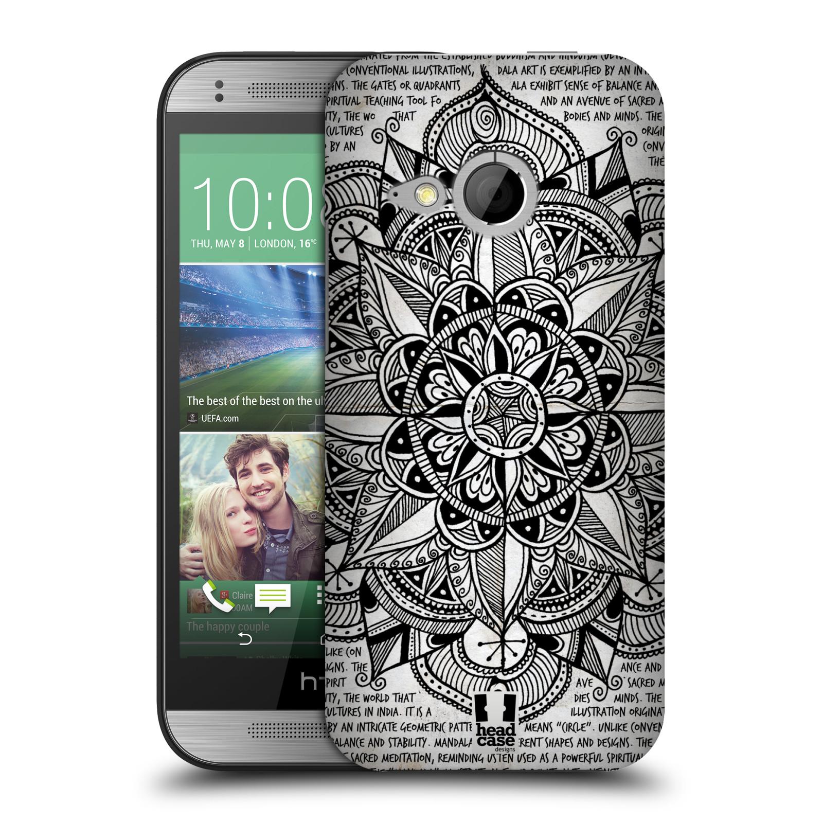 Plastové pouzdro na mobil HTC ONE Mini 2 HEAD CASE Mandala Doodle Paper (Kryt či obal na mobilní telefon HTC ONE Mini 2)