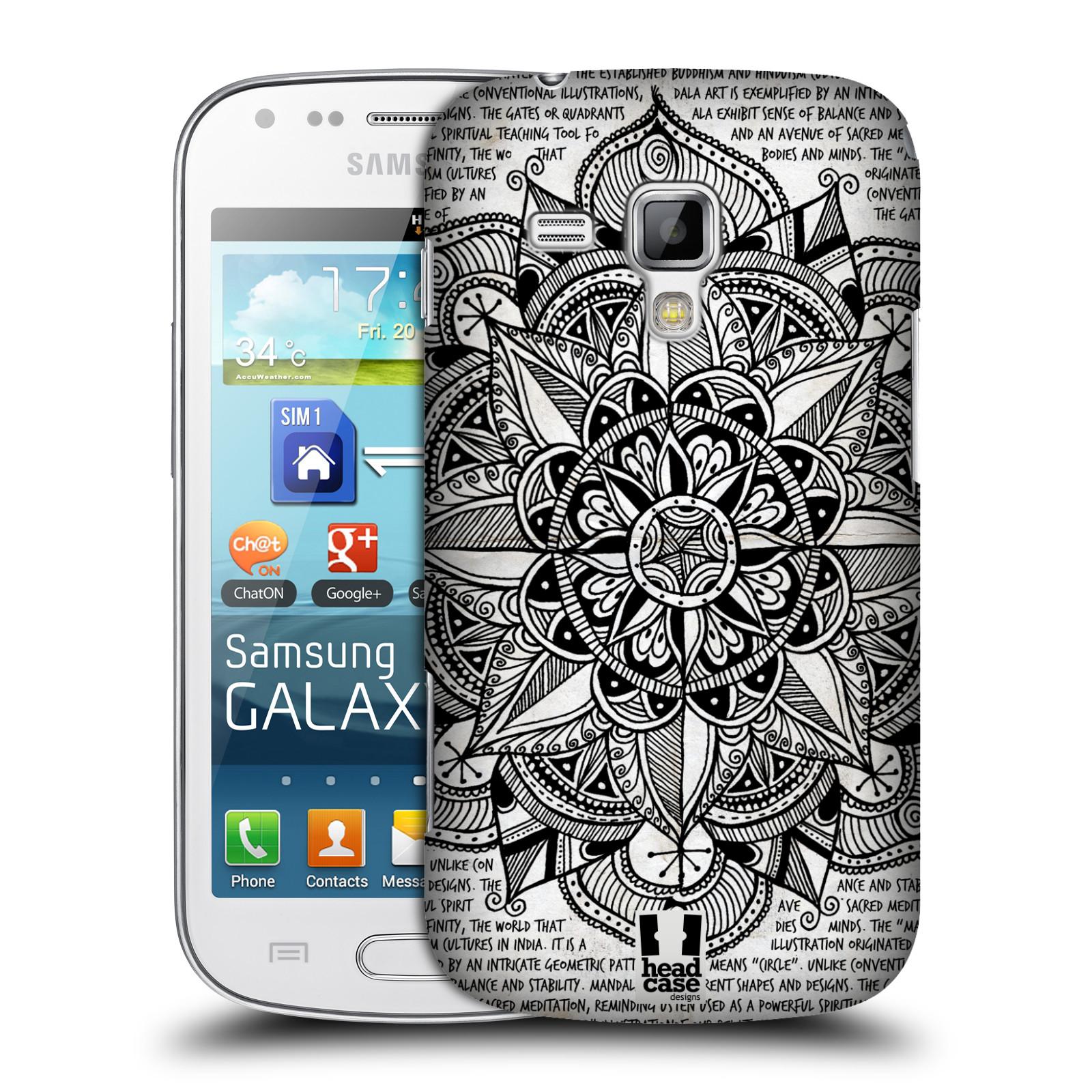 Plastové pouzdro na mobil Samsung Galaxy Trend Plus HEAD CASE Mandala Doodle Paper (Kryt či obal na mobilní telefon Samsung Galaxy Trend Plus GT-S7580)