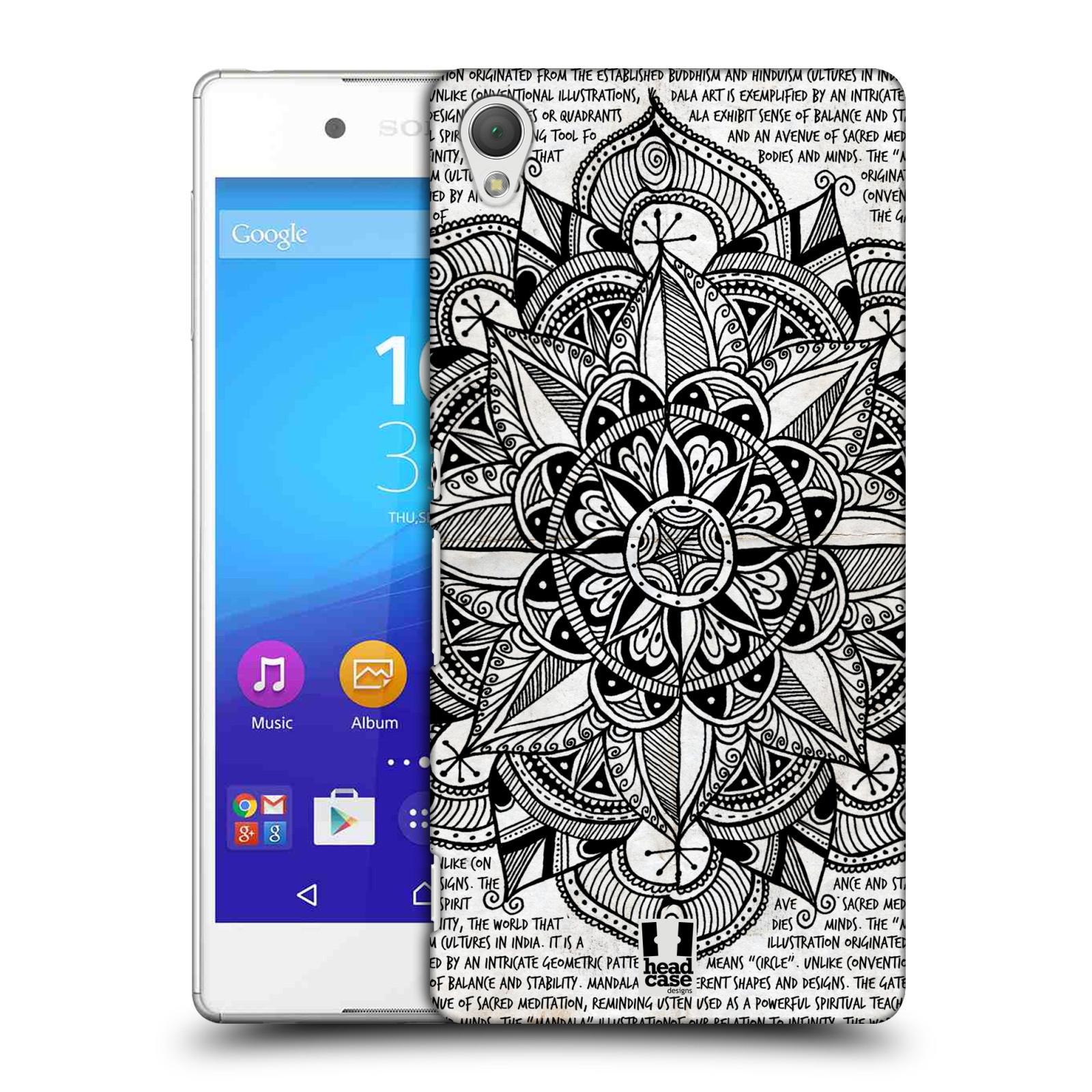 Plastové pouzdro na mobil Sony Xperia Z3+ (Plus) HEAD CASE Mandala Doodle Paper (Kryt či obal na mobilní telefon Sony Xperia Z3+ a Sony Xperia Z4 )