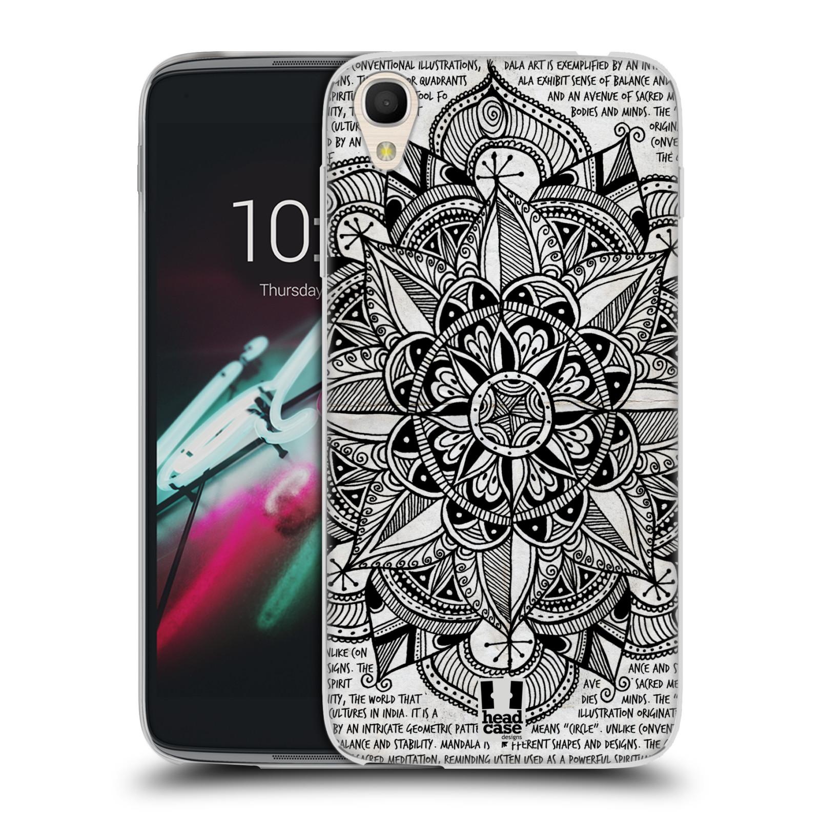 """Silikonové pouzdro na mobil Alcatel One Touch 6039Y Idol 3 HEAD CASE Mandala Doodle Paper (Silikonový kryt či obal na mobilní telefon Alcatel One Touch Idol 3 OT-6039Y s 4,7"""" displejem)"""
