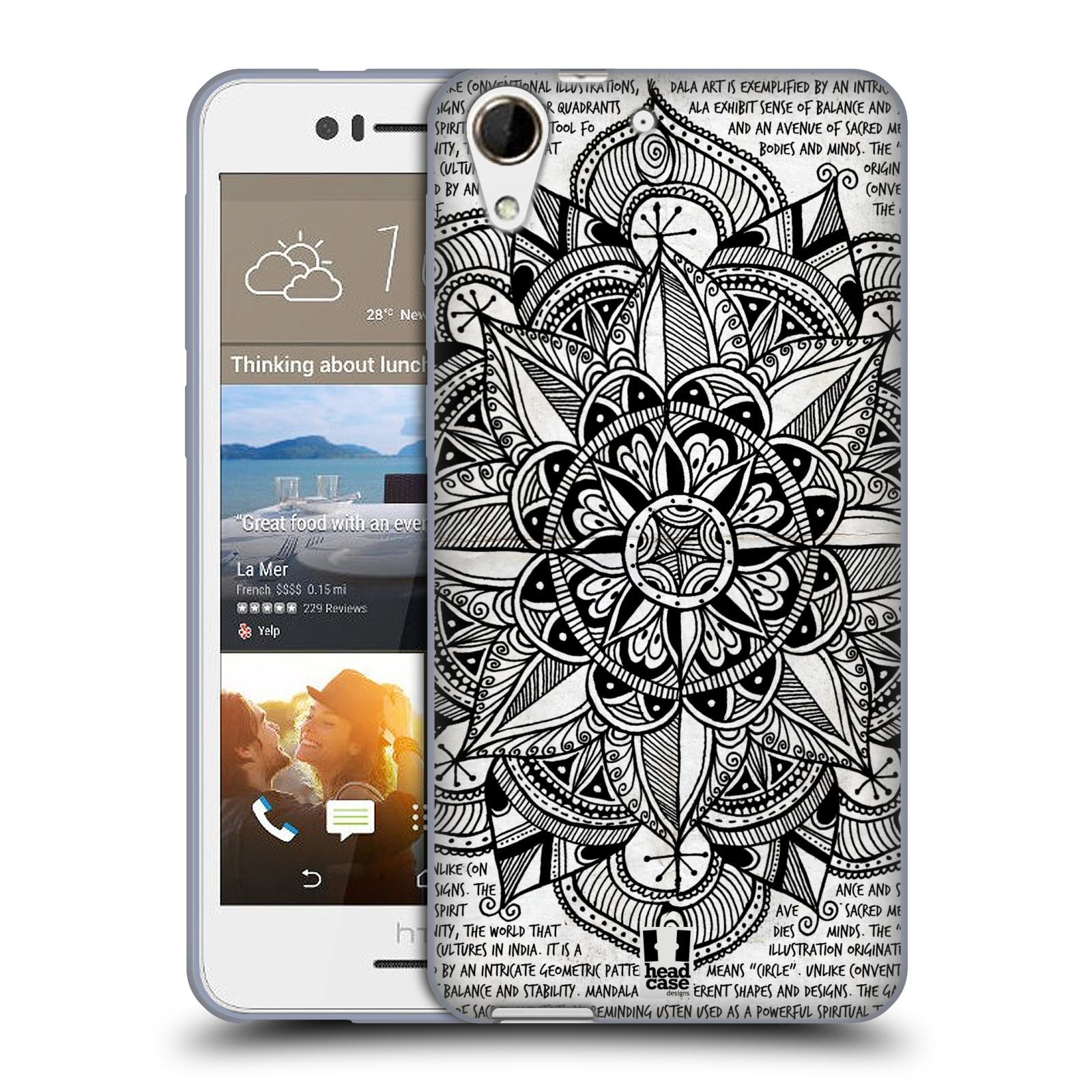 Silikonové pouzdro na mobil HTC Desire 728G Dual SIM HEAD CASE Mandala Doodle Paper (Silikonový kryt či obal na mobilní telefon HTC Desire 728 G Dual SIM)