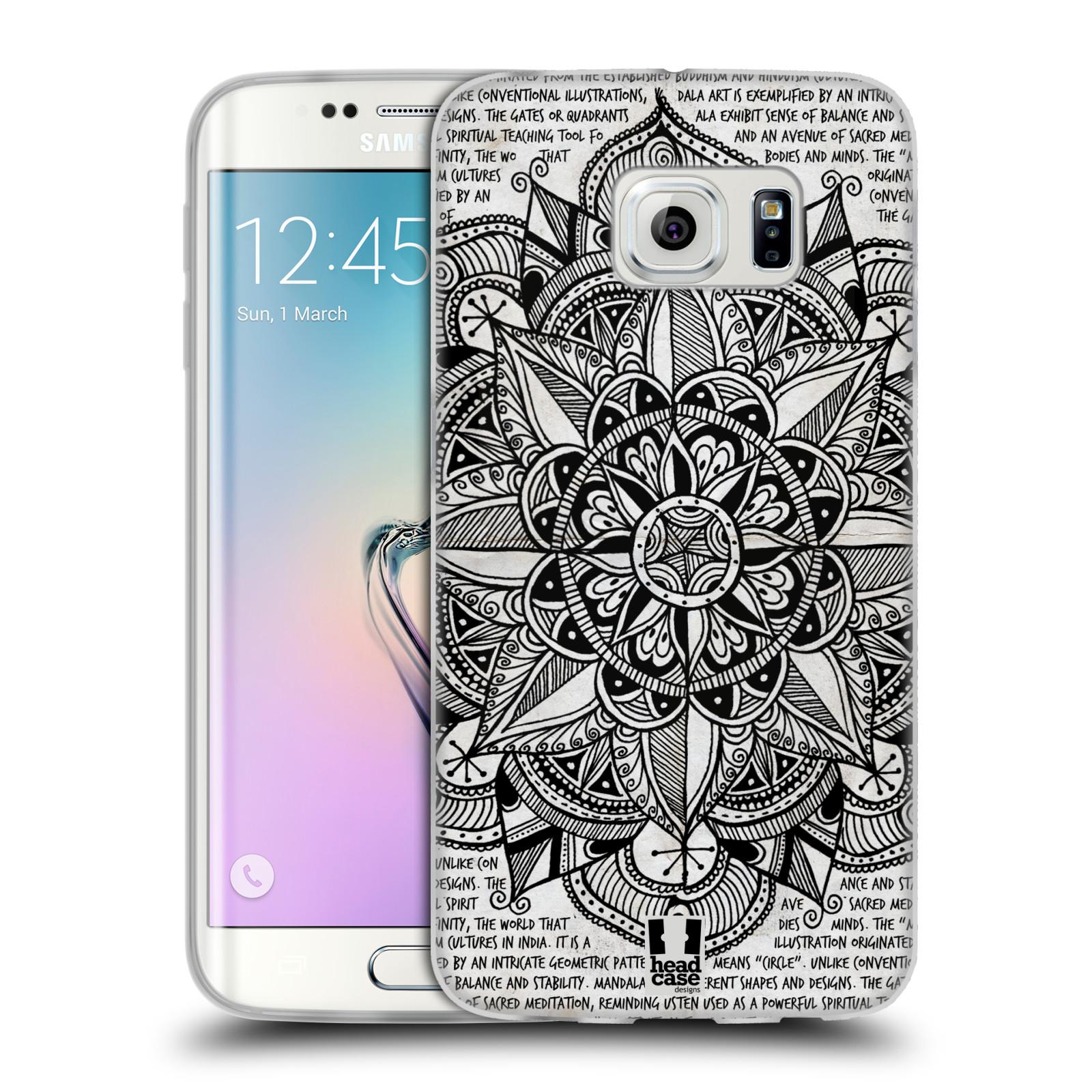 Silikonové pouzdro na mobil Samsung Galaxy S6 Edge HEAD CASE Mandala Doodle Paper (Silikonový kryt či obal na mobilní telefon Samsung Galaxy S6 Edge SM-G925F)
