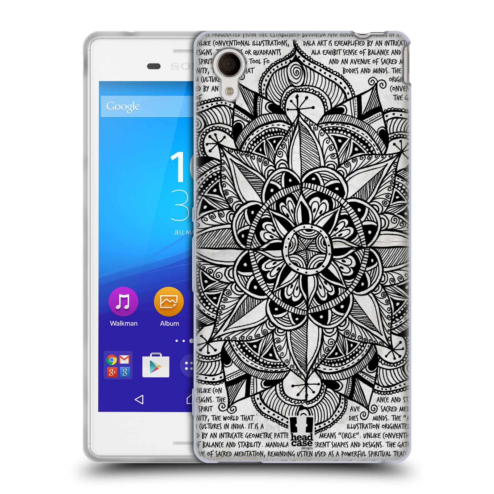 Silikonové pouzdro na mobil Sony Xperia M4 Aqua E2303 HEAD CASE Mandala Doodle Paper (Silikonový kryt či obal na mobilní telefon Sony Xperia M4 Aqua a M4 Aqua Dual SIM)
