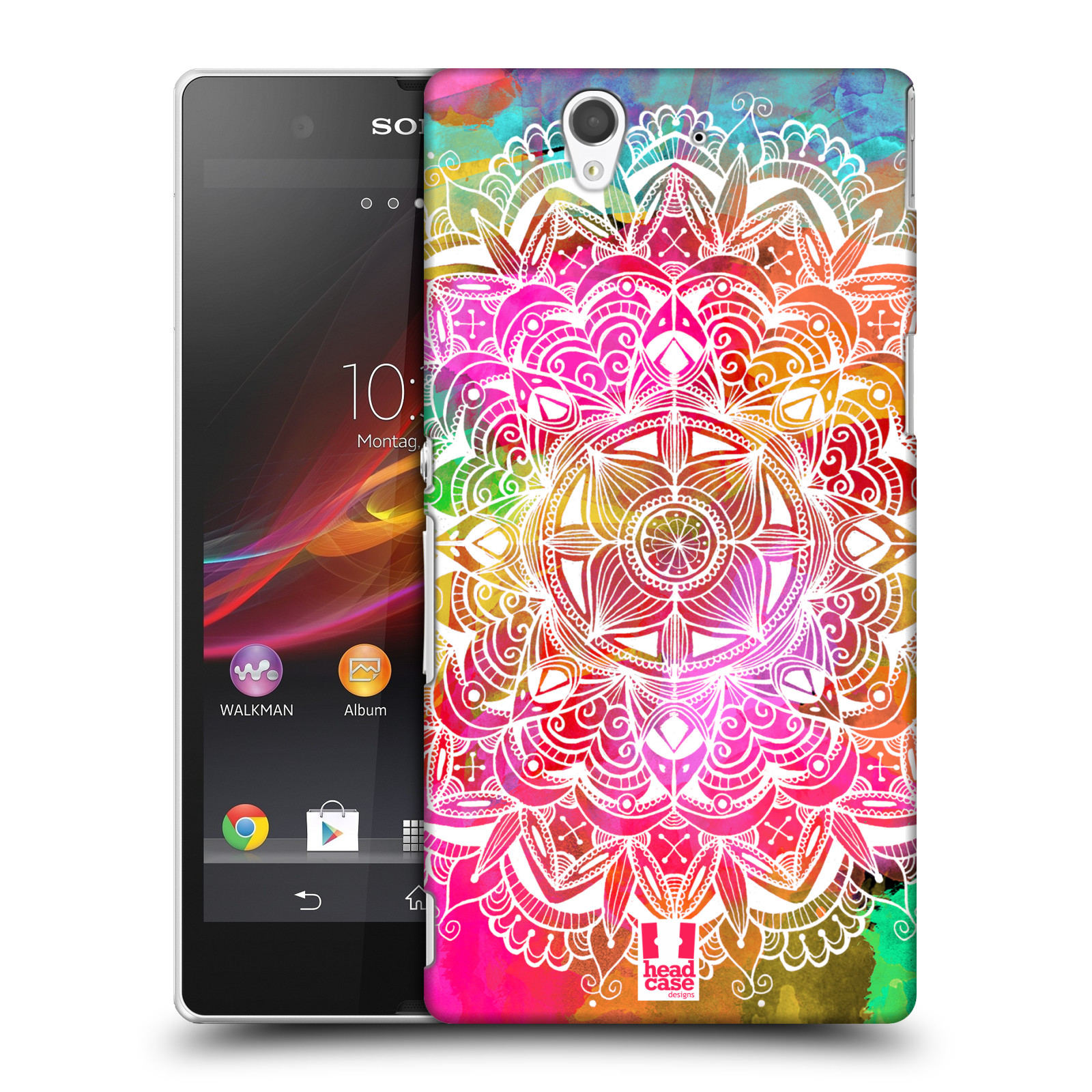 Plastové pouzdro na mobil Sony Xperia Z C6603 HEAD CASE Mandala Doodle Watercolour (Kryt či obal na mobilní telefon Sony Xperia Z)