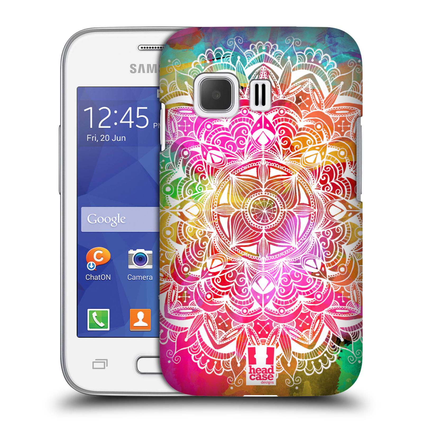 Plastové pouzdro na mobil Samsung Galaxy Young 2 HEAD CASE Mandala Doodle Watercolour (Kryt či obal na mobilní telefon Samsung Galaxy Young 2 SM-G130)