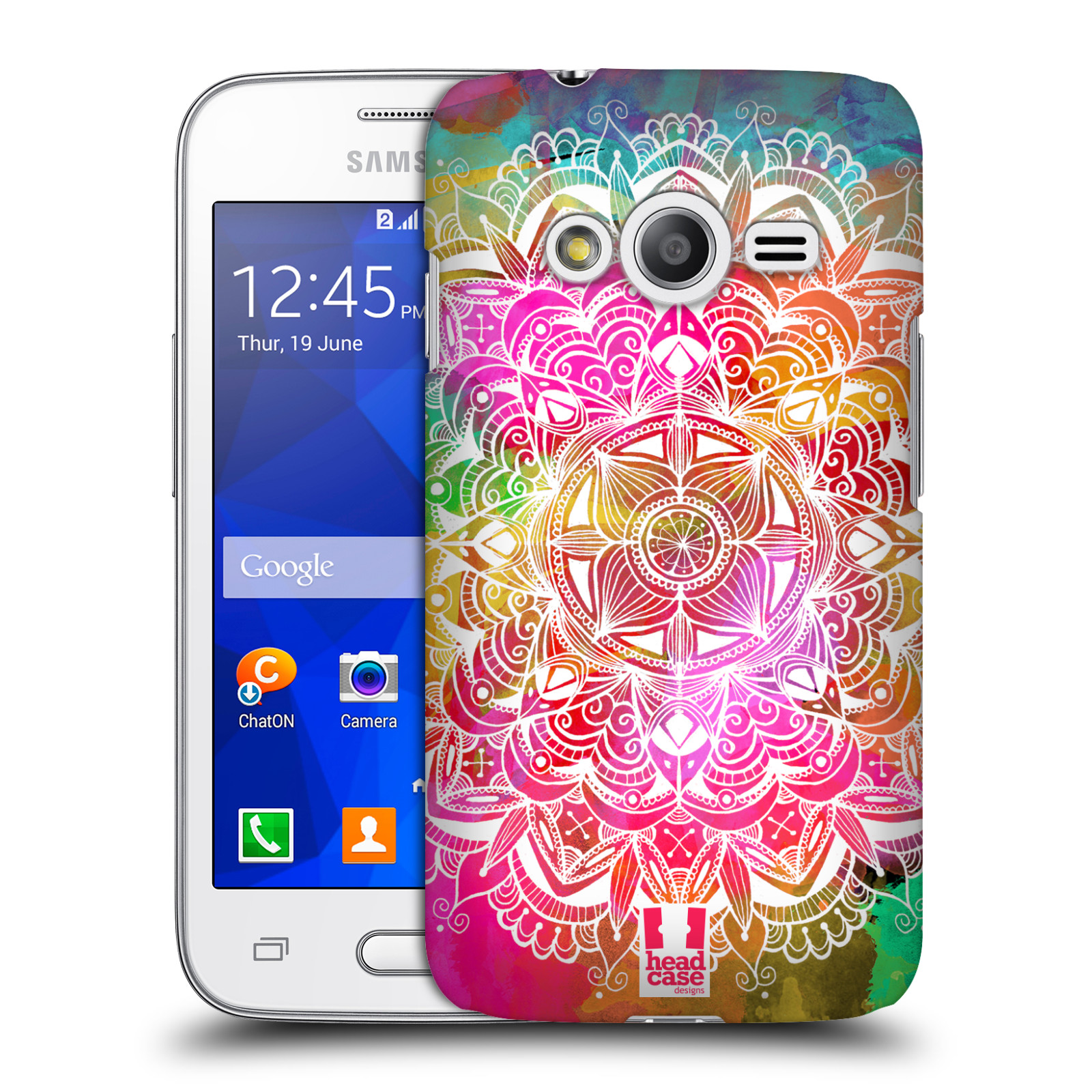 Plastové pouzdro na mobil Samsung Galaxy Trend 2 Lite HEAD CASE Mandala Doodle Watercolour (Kryt či obal na mobilní telefon Samsung Galaxy Trend 2 Lite SM-G318)