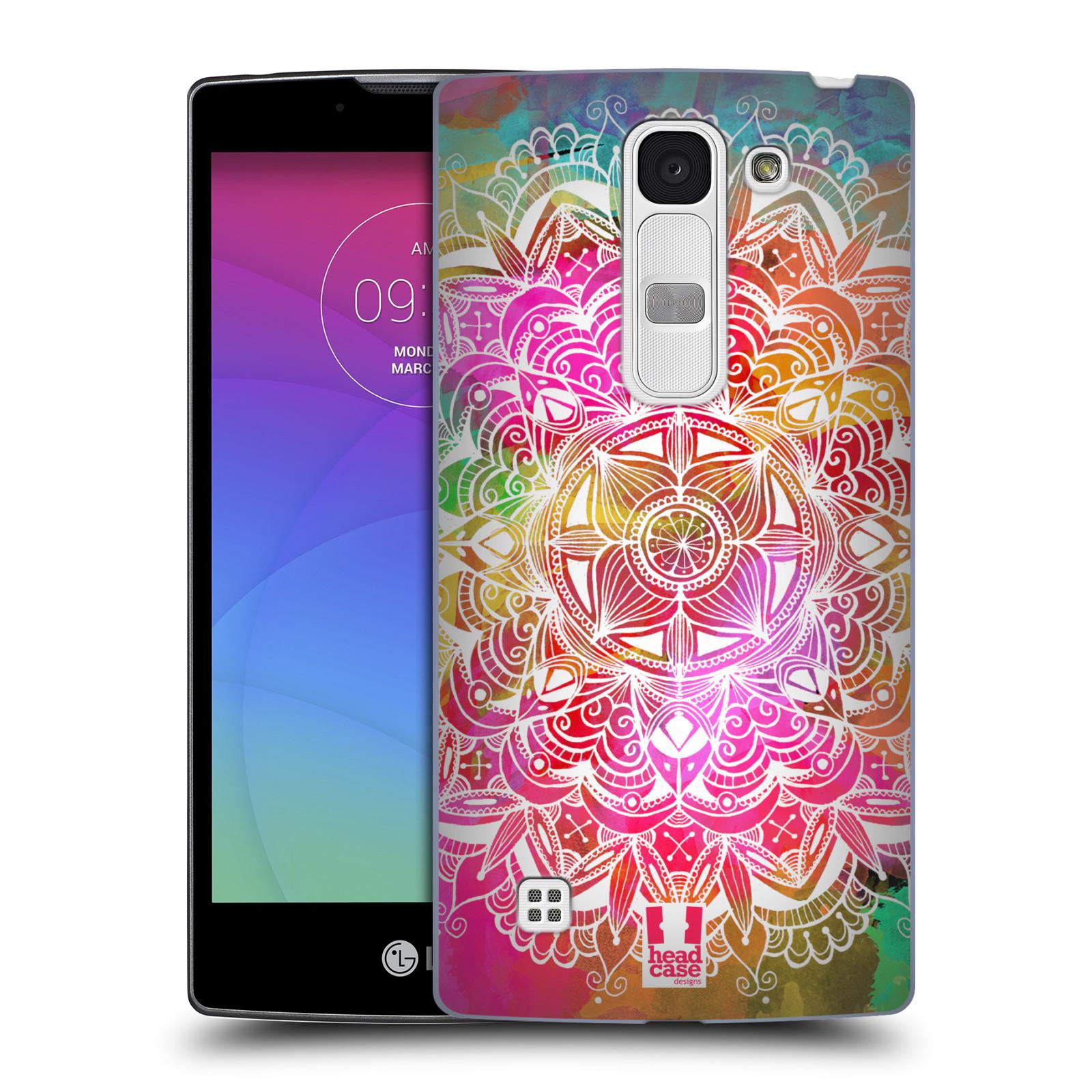 Plastové pouzdro na mobil LG Spirit LTE HEAD CASE Mandala Doodle Watercolour (Kryt či obal na mobilní telefon LG Spirit H420 a LG Spirit LTE H440N)