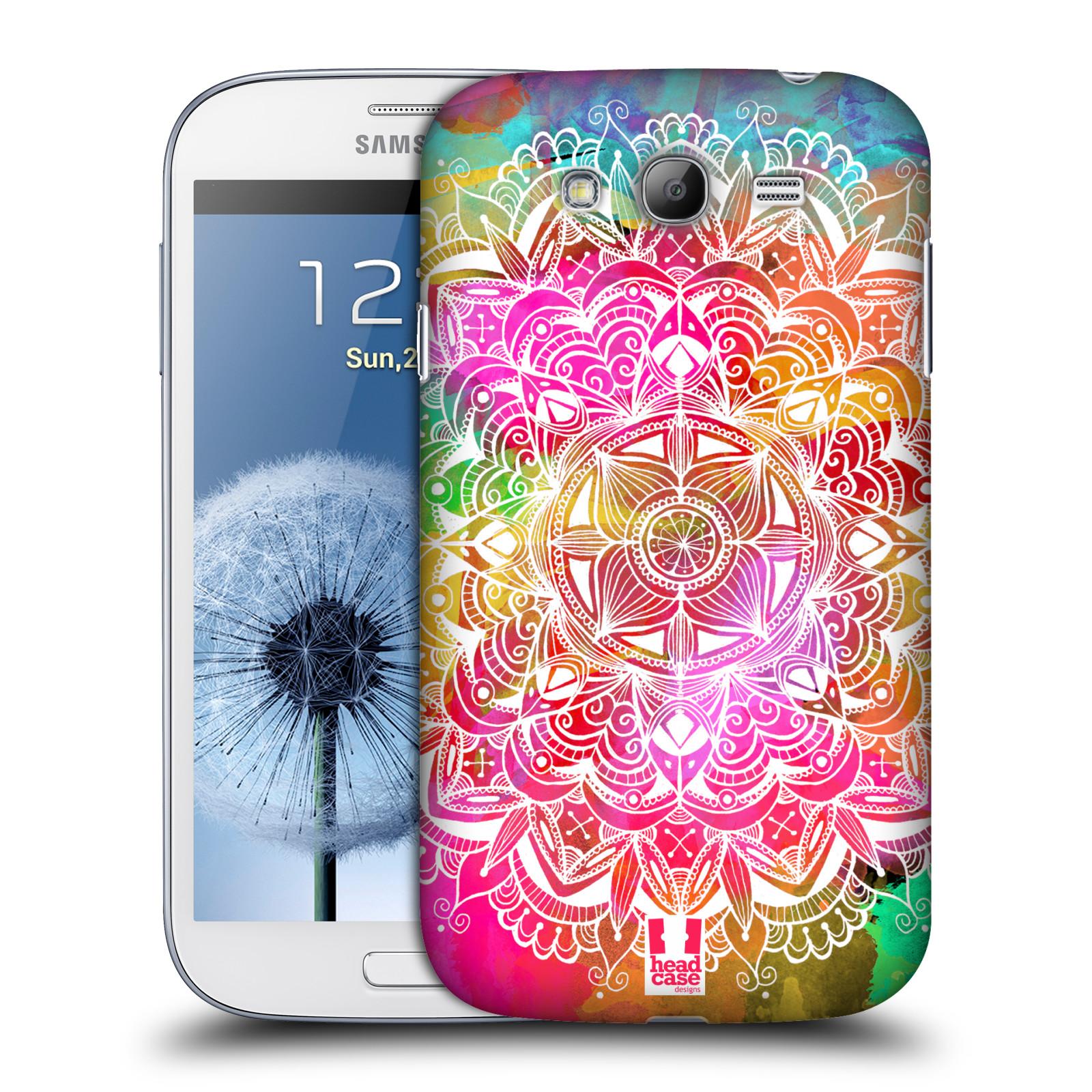 Plastové pouzdro na mobil Samsung Galaxy Grand Neo Plus HEAD CASE Mandala Doodle Watercolour (Kryt či obal na mobilní telefon Samsung Galaxy Grand Neo Plus GT-i9060i)