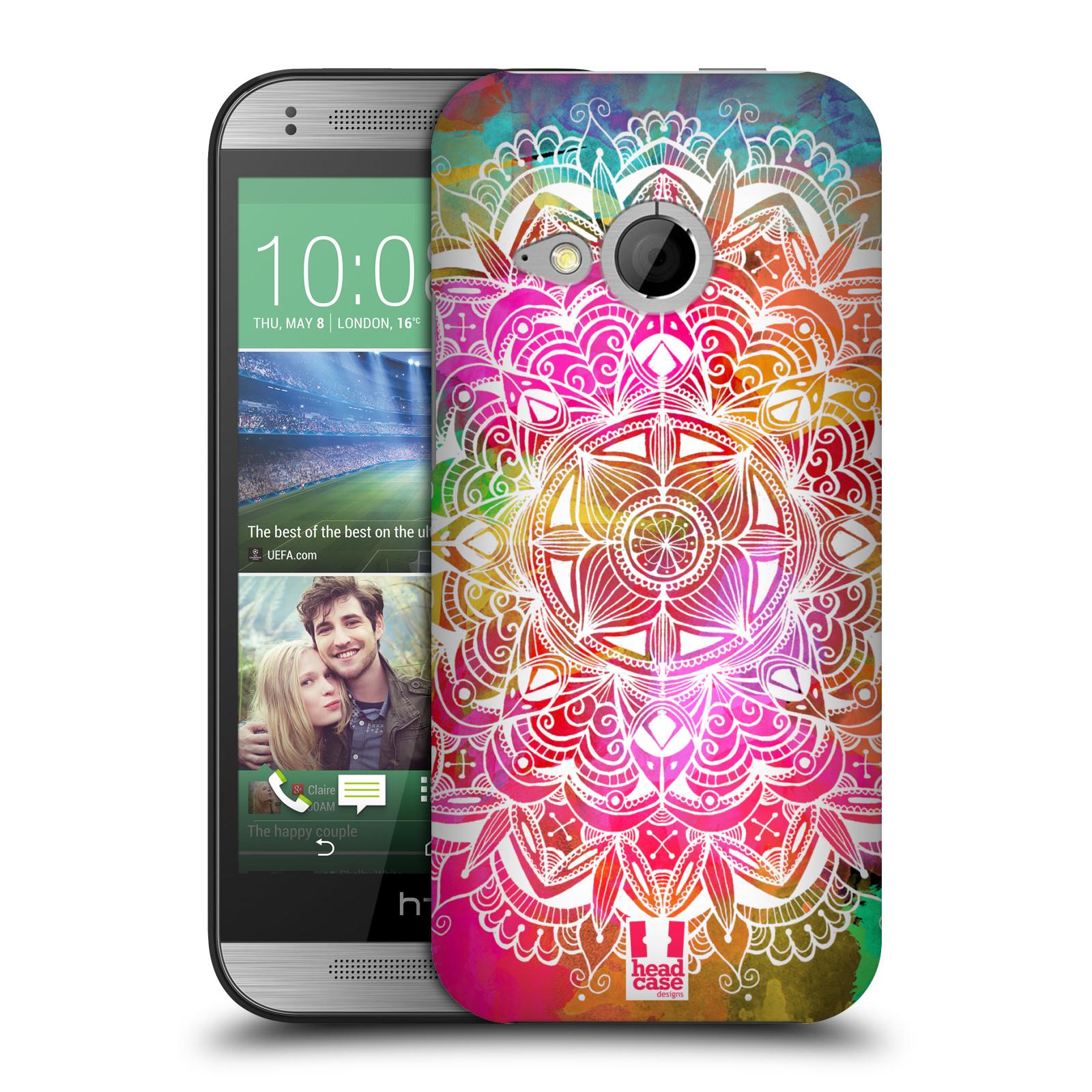 Plastové pouzdro na mobil HTC ONE Mini 2 HEAD CASE Mandala Doodle Watercolour (Kryt či obal na mobilní telefon HTC ONE Mini 2)