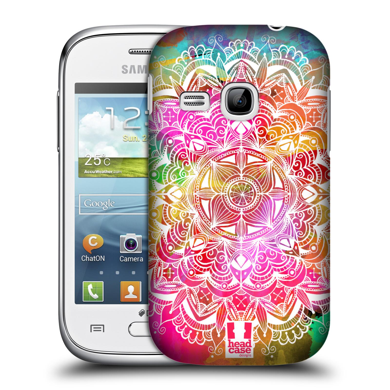 Plastové pouzdro na mobil Samsung Galaxy Young HEAD CASE Mandala Doodle Watercolour (Kryt či obal na mobilní telefon Samsung Galaxy Young GT-S6310)