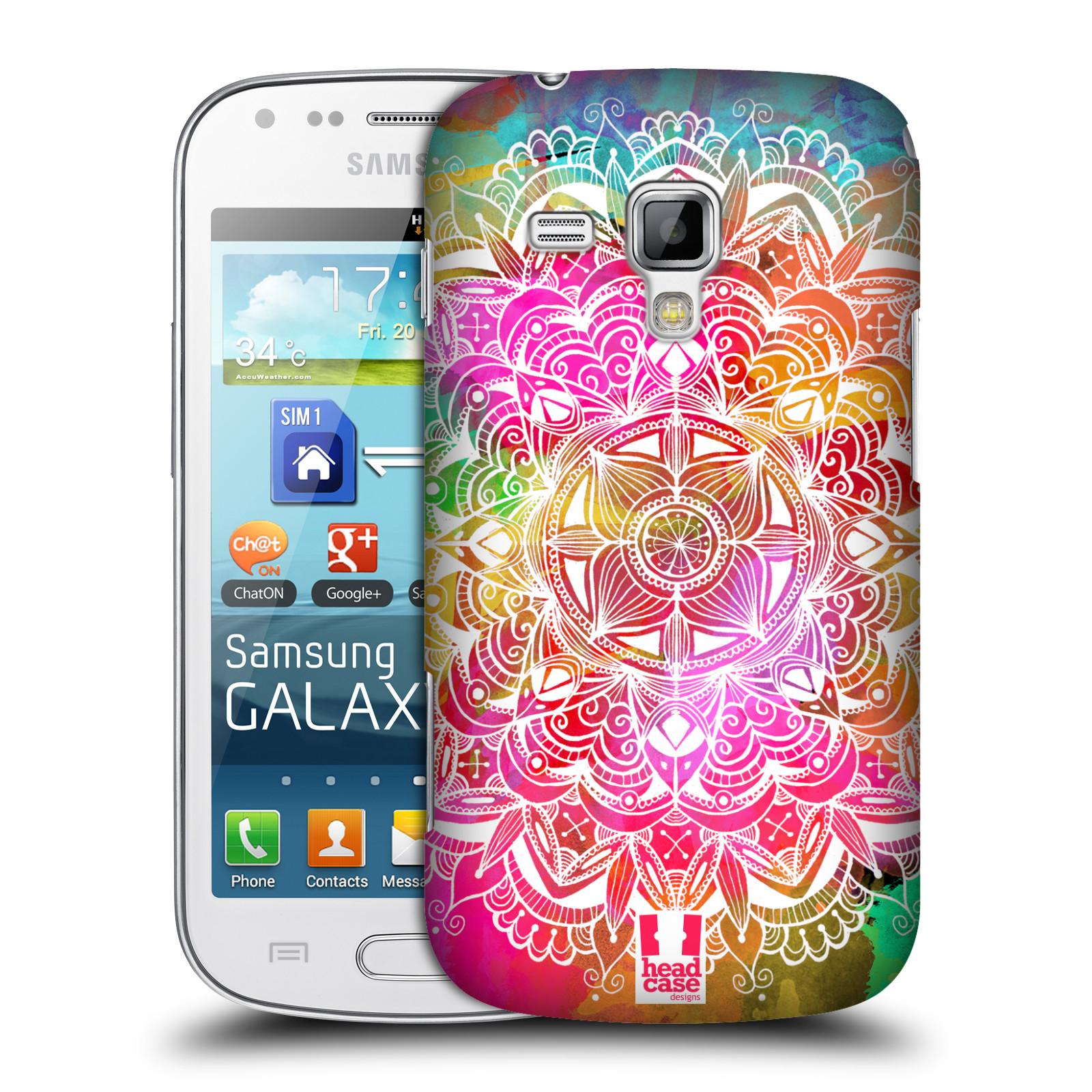 Plastové pouzdro na mobil Samsung Galaxy Trend Plus HEAD CASE Mandala Doodle Watercolour (Kryt či obal na mobilní telefon Samsung Galaxy Trend Plus GT-S7580)