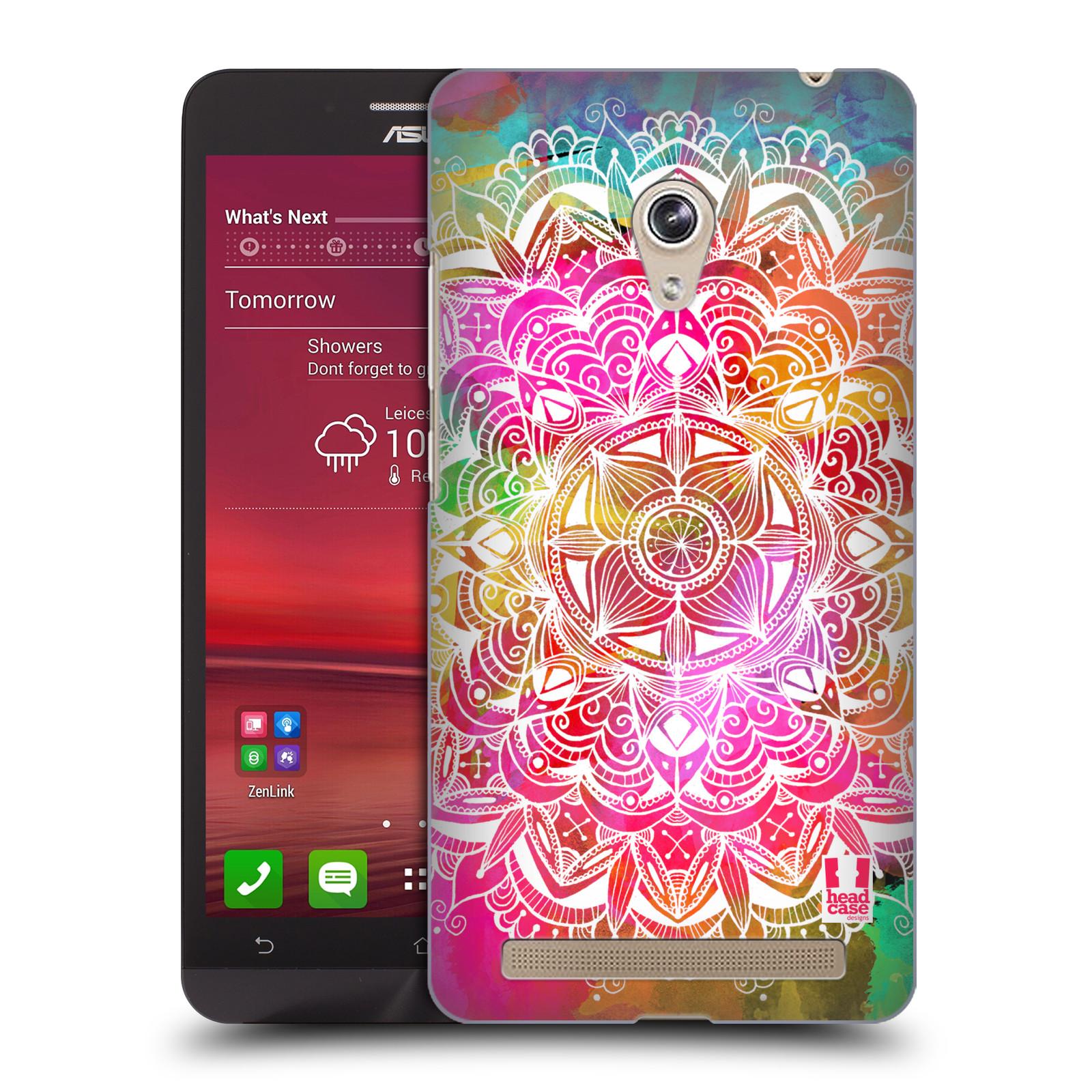 Plastové pouzdro na mobil Asus Zenfone 6 HEAD CASE Mandala Doodle Watercolour (Kryt či obal na mobilní telefon Asus Zenfone 6 A600CG / A601CG)