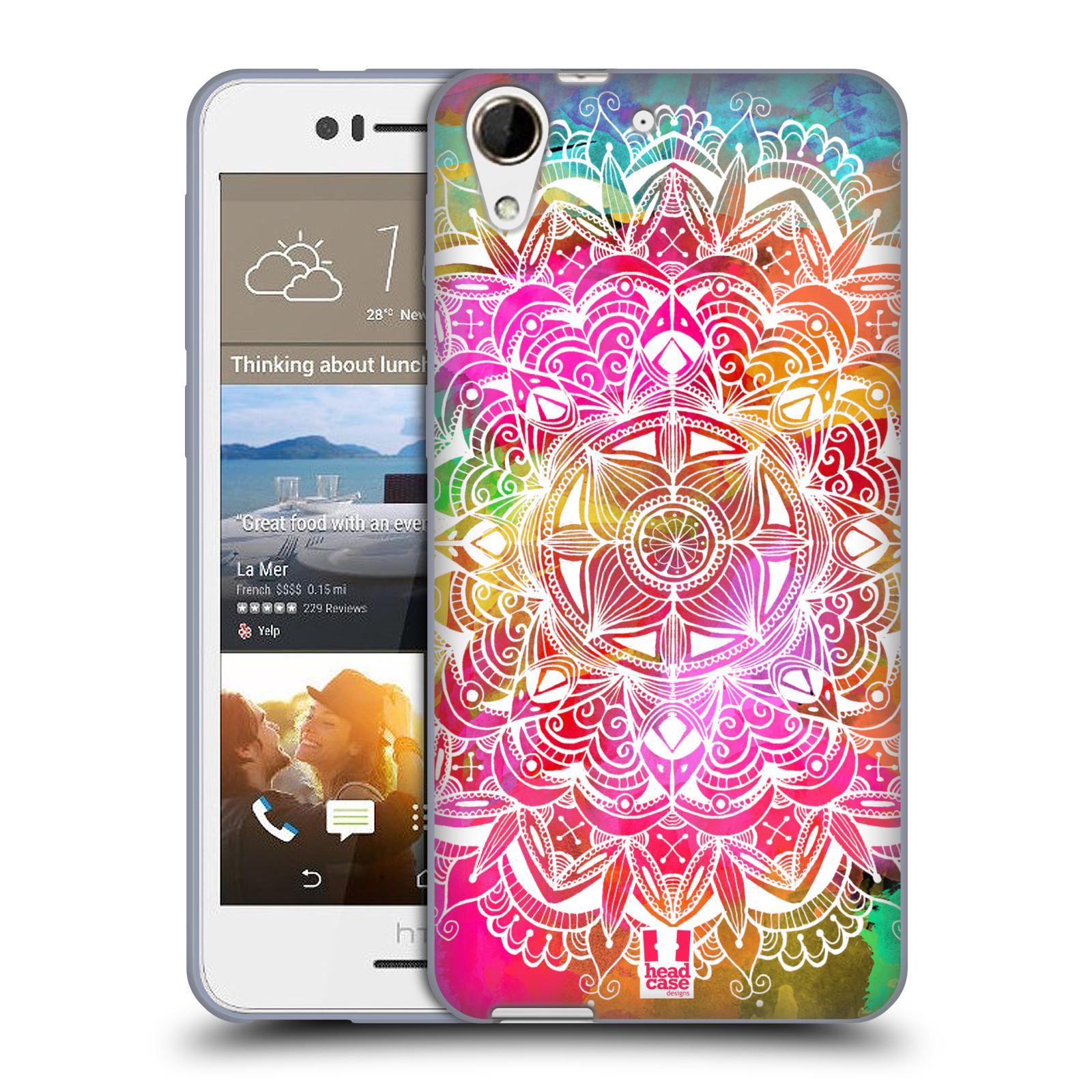 Silikonové pouzdro na mobil HTC Desire 728G Dual SIM HEAD CASE Mandala Doodle Watercolour (Silikonový kryt či obal na mobilní telefon HTC Desire 728 G Dual SIM)