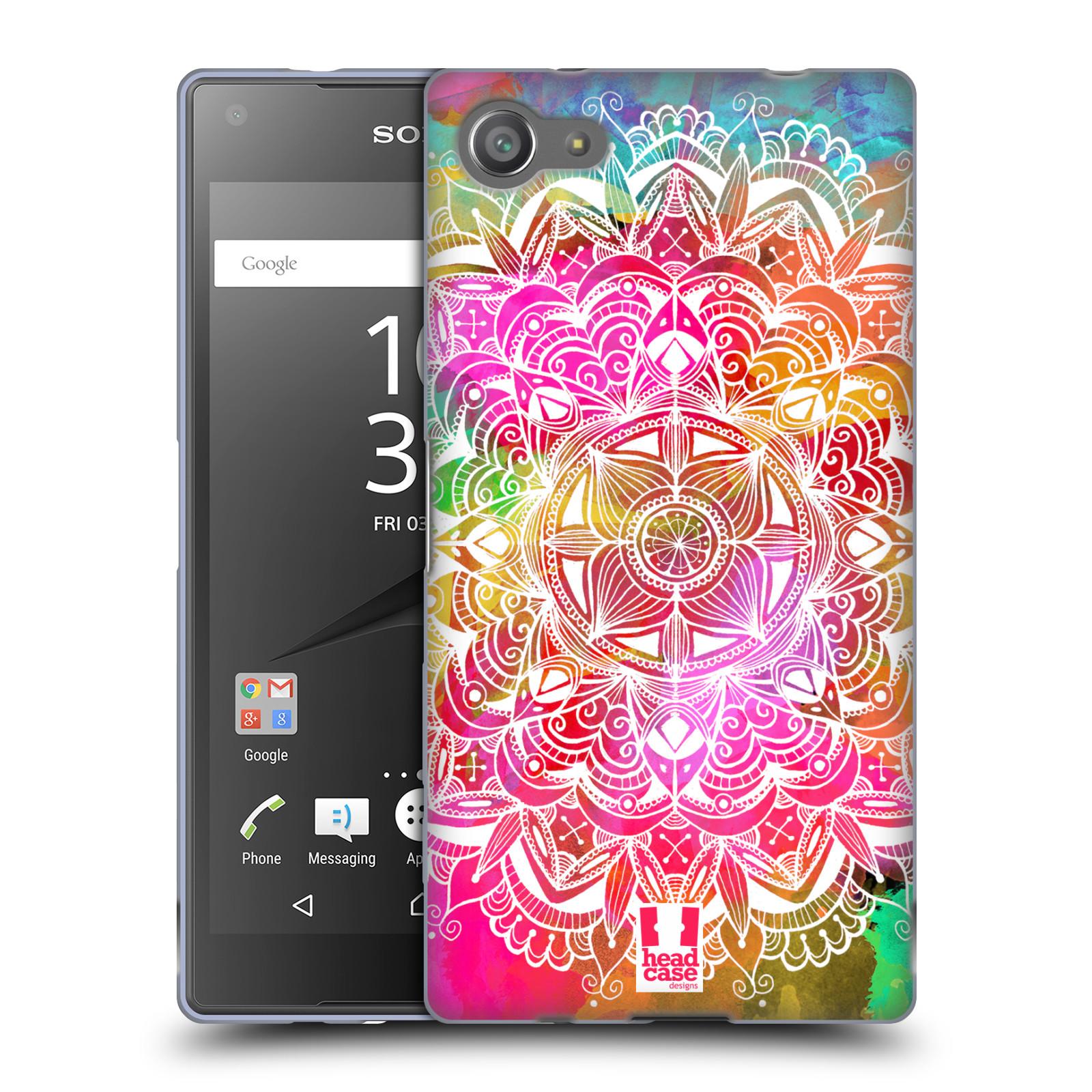 Silikonové pouzdro na mobil Sony Xperia Z5 Compact HEAD CASE Mandala Doodle Watercolour (Silikonový kryt či obal na mobilní telefon Sony Xperia Z5 Compact E5823)