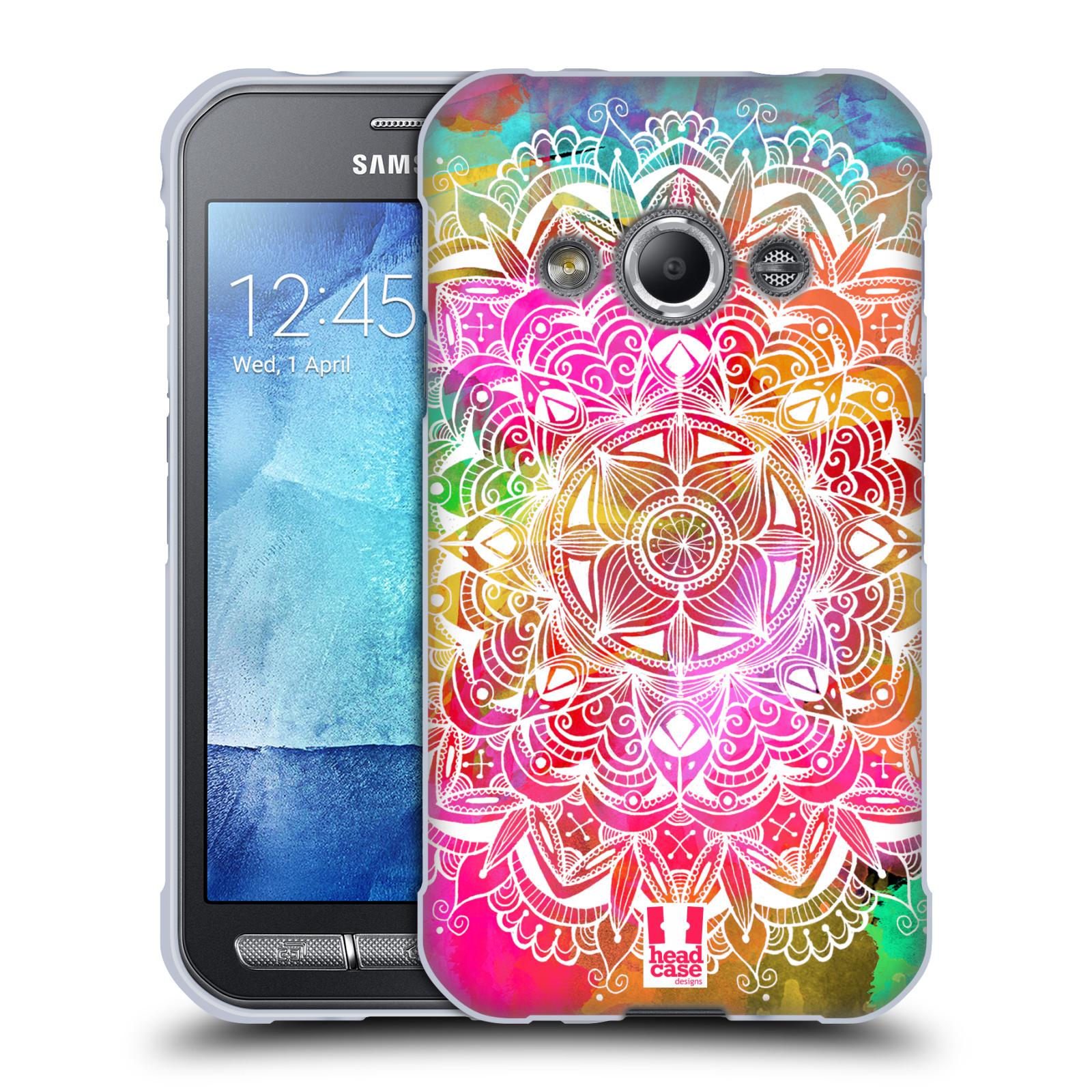 Silikonové pouzdro na mobil Samsung Galaxy Xcover 3 HEAD CASE Mandala Doodle Watercolour (Silikonový kryt či obal na mobilní telefon Samsung Galaxy Xcover 3 SM-G388F)