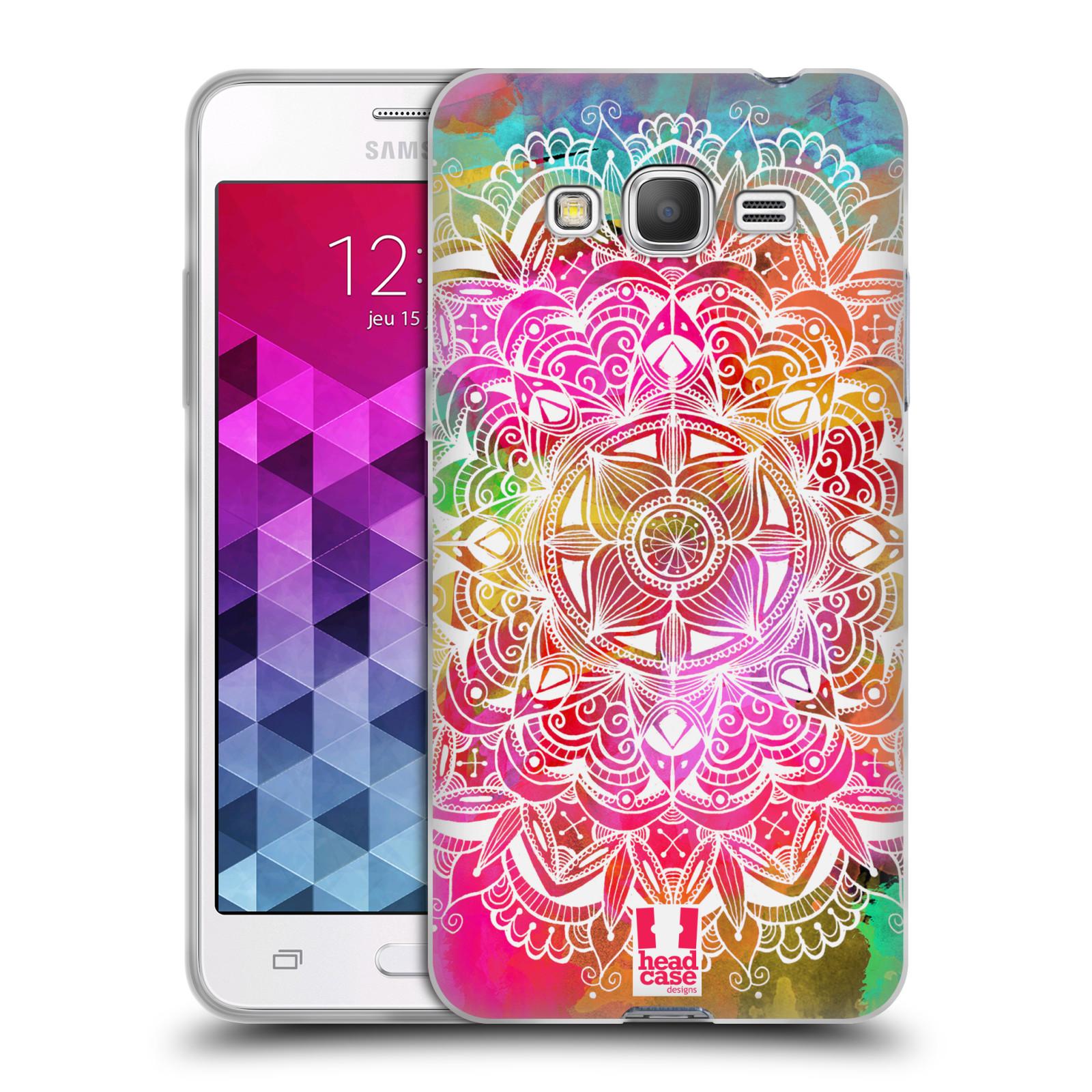 Silikonové pouzdro na mobil Samsung Galaxy Grand Prime HEAD CASE Mandala Doodle Watercolour