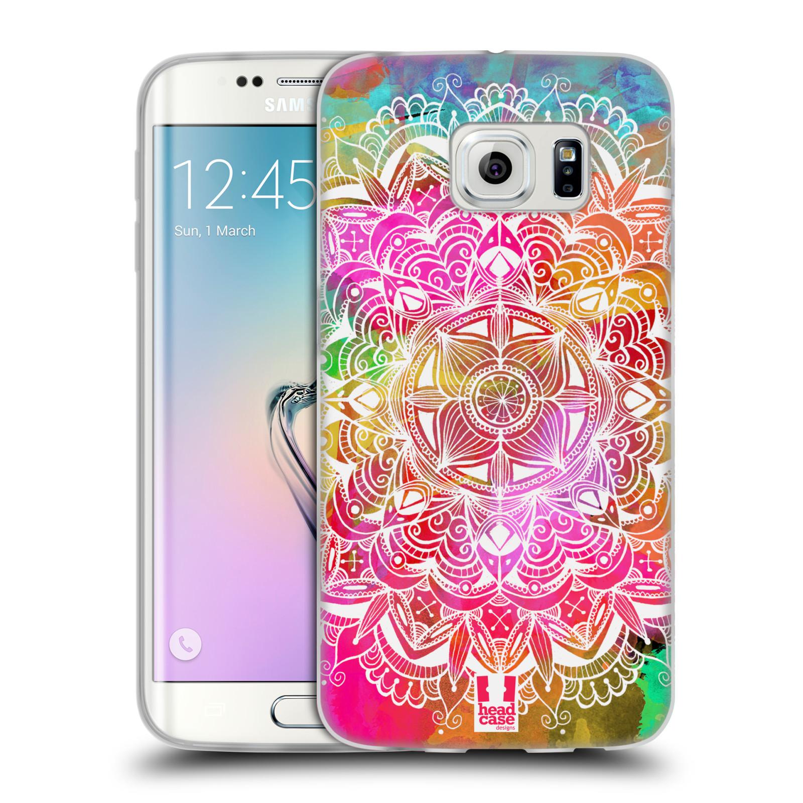 Silikonové pouzdro na mobil Samsung Galaxy S6 Edge HEAD CASE Mandala Doodle Watercolour (Silikonový kryt či obal na mobilní telefon Samsung Galaxy S6 Edge SM-G925F)