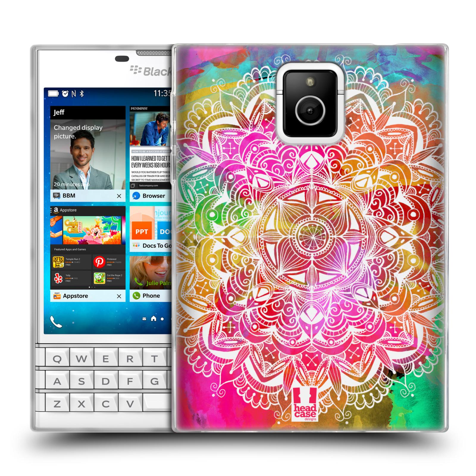 Silikonové pouzdro na mobil Blackberry PASSPORT HEAD CASE Mandala Doodle Watercolour (Silikonový kryt či obal na mobilní telefon Blackberry PASSPORT)