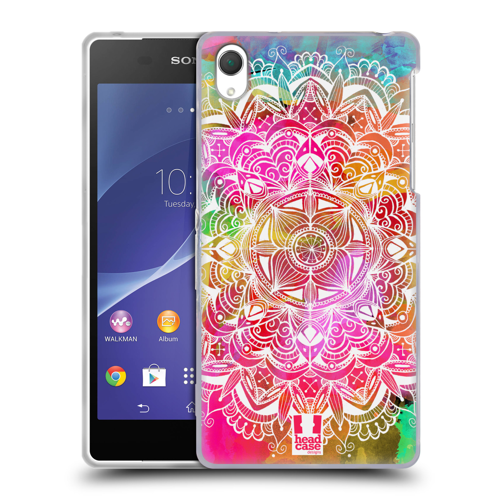 Silikonové pouzdro na mobil Sony Xperia Z2 D6503 HEAD CASE Mandala Doodle Watercolour (Silikonový kryt či obal na mobilní telefon Sony Xperia Z2)