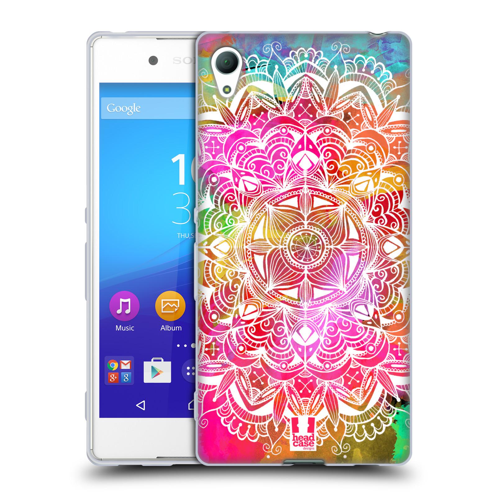 Silikonové pouzdro na mobil Sony Xperia Z3+ (Plus) HEAD CASE Mandala Doodle Watercolour (Silikonový kryt či obal na mobilní telefon Sony Xperia Z3+ / Z4 E6553)