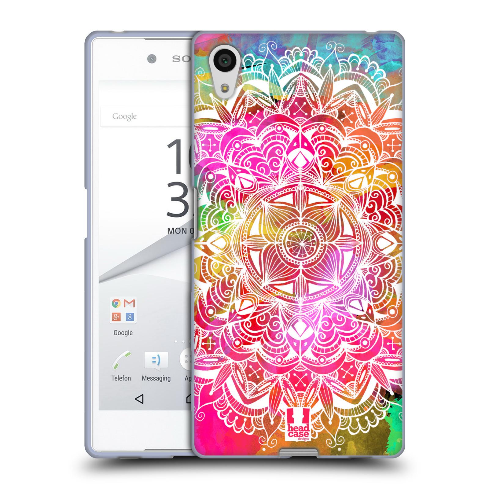 Silikonové pouzdro na mobil Sony Xperia Z5 HEAD CASE Mandala Doodle Watercolour (Silikonový kryt či obal na mobilní telefon Sony Xperia Z5 E6653)