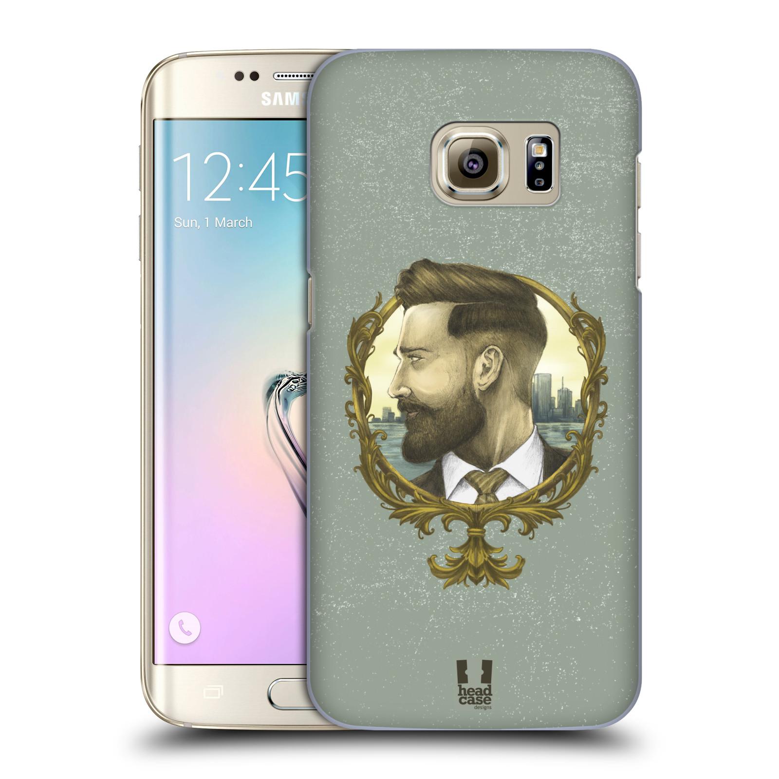 Plastové pouzdro na mobil Samsung Galaxy S7 Edge HEAD CASE HIPSTER GENTLEMAN (Kryt či obal na mobilní telefon Samsung Galaxy S7 Edge SM-G935F)