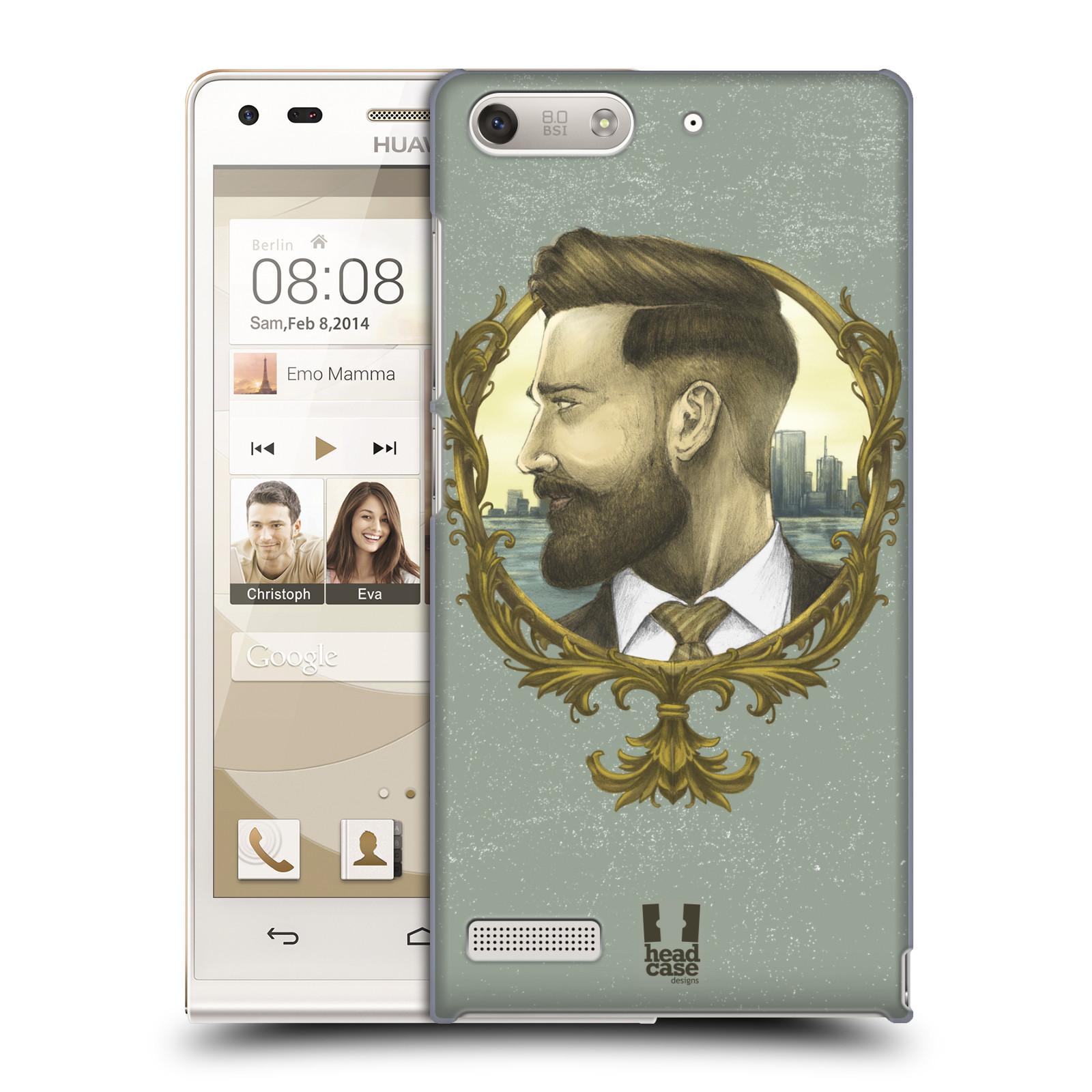 Plastové pouzdro na mobil Huawei Ascend G6 HEAD CASE HIPSTER GENTLEMAN (Kryt či obal na mobilní telefon Huawei Ascend G6 bez LTE)